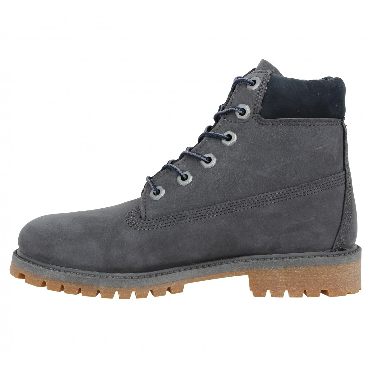 timberland 6in premium velours femme full gris fanny chaussures. Black Bedroom Furniture Sets. Home Design Ideas