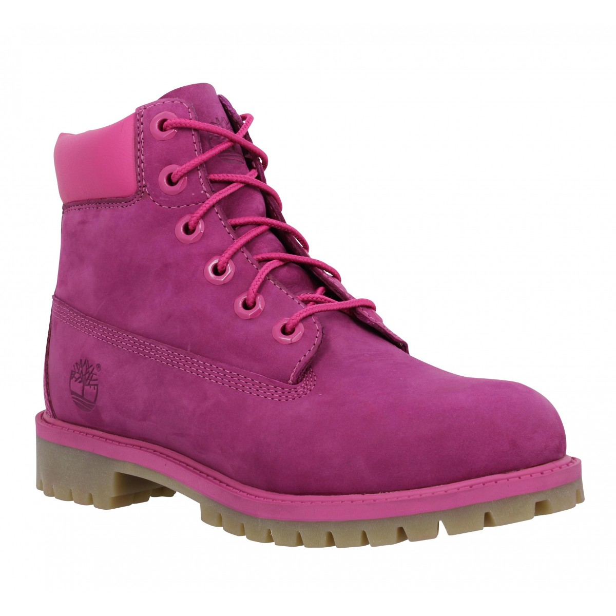 Bottines TIMBERLAND 6in Premium velours Femme Pink