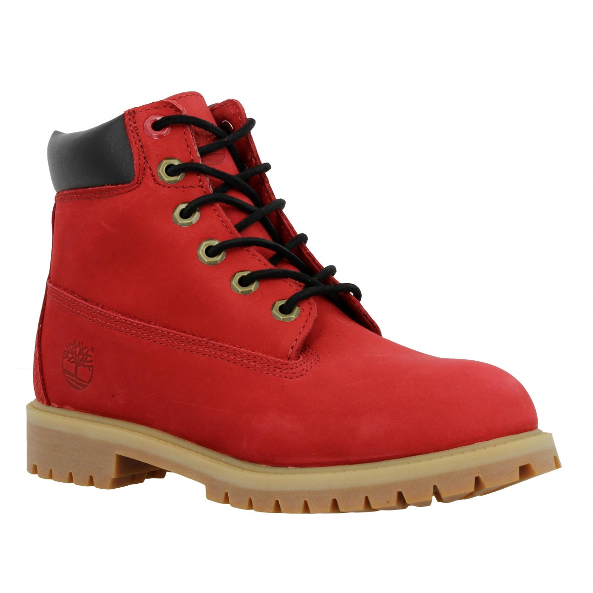 Bottines TIMBERLAND 6in Premium velours Femme Rouge