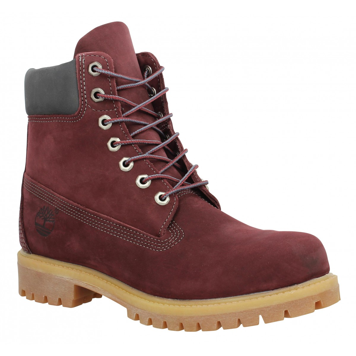 Bottines TIMBERLAND 6in Premium velours Bordeaux