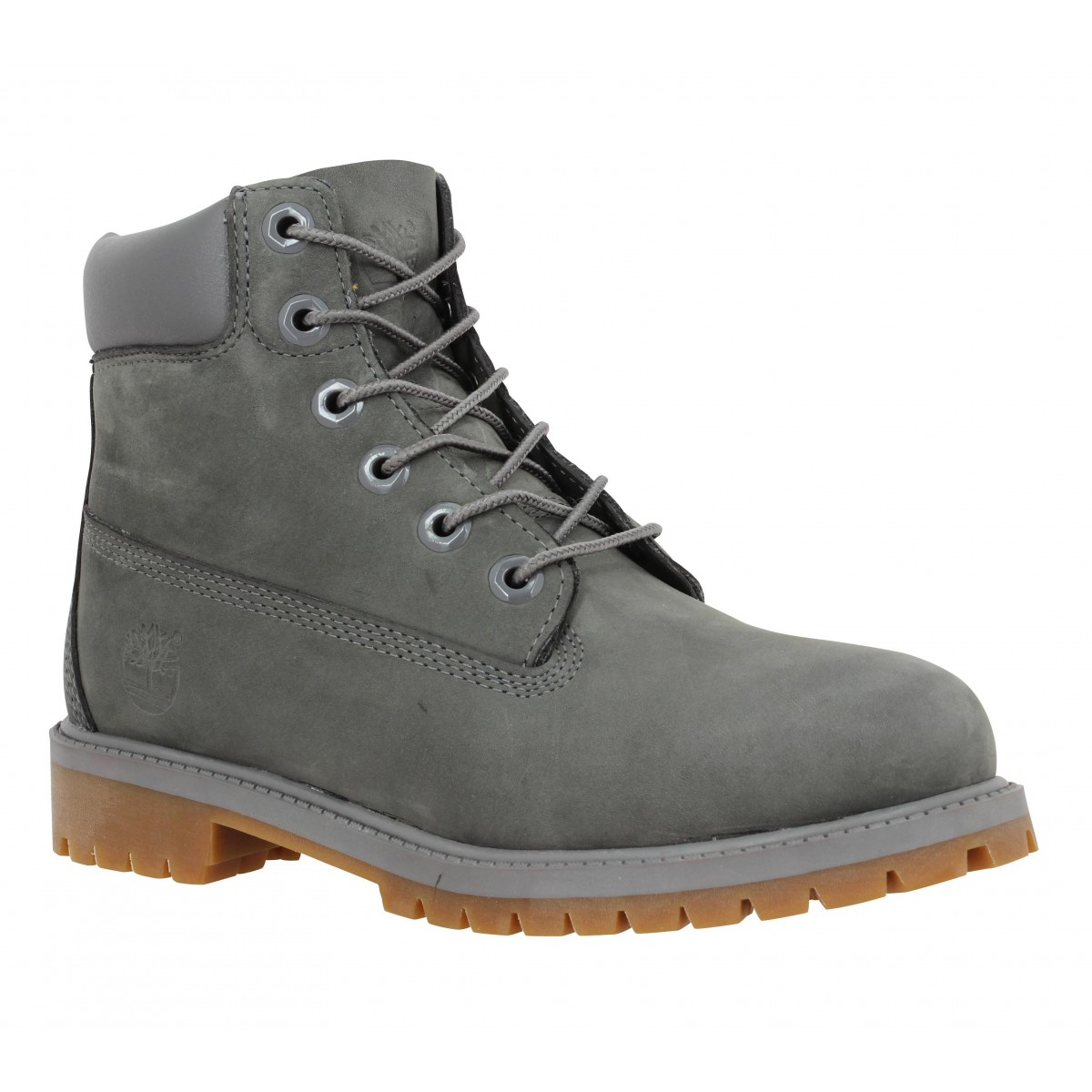 Bottines TIMBERLAND 6in Premium velours Homme Full Gris