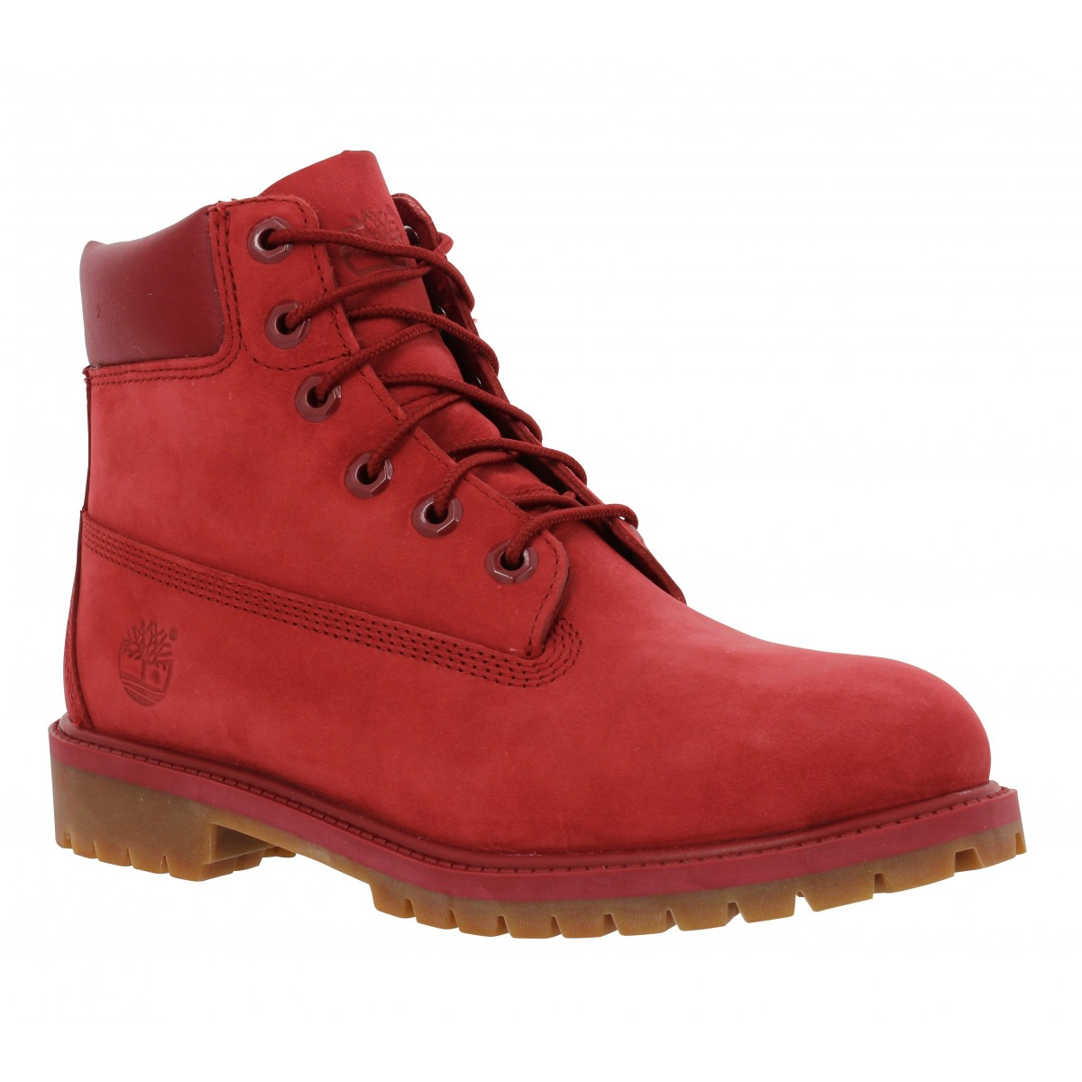 Bottines TIMBERLAND 6in Premium velours Homme Full Rouge