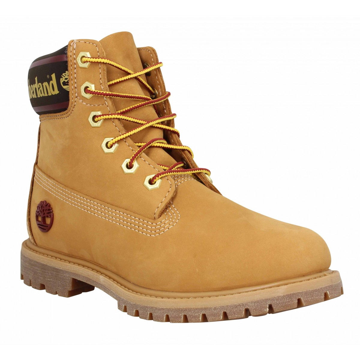 TIMBERLAND 6in Premium WP Logo velours Femme Ocre