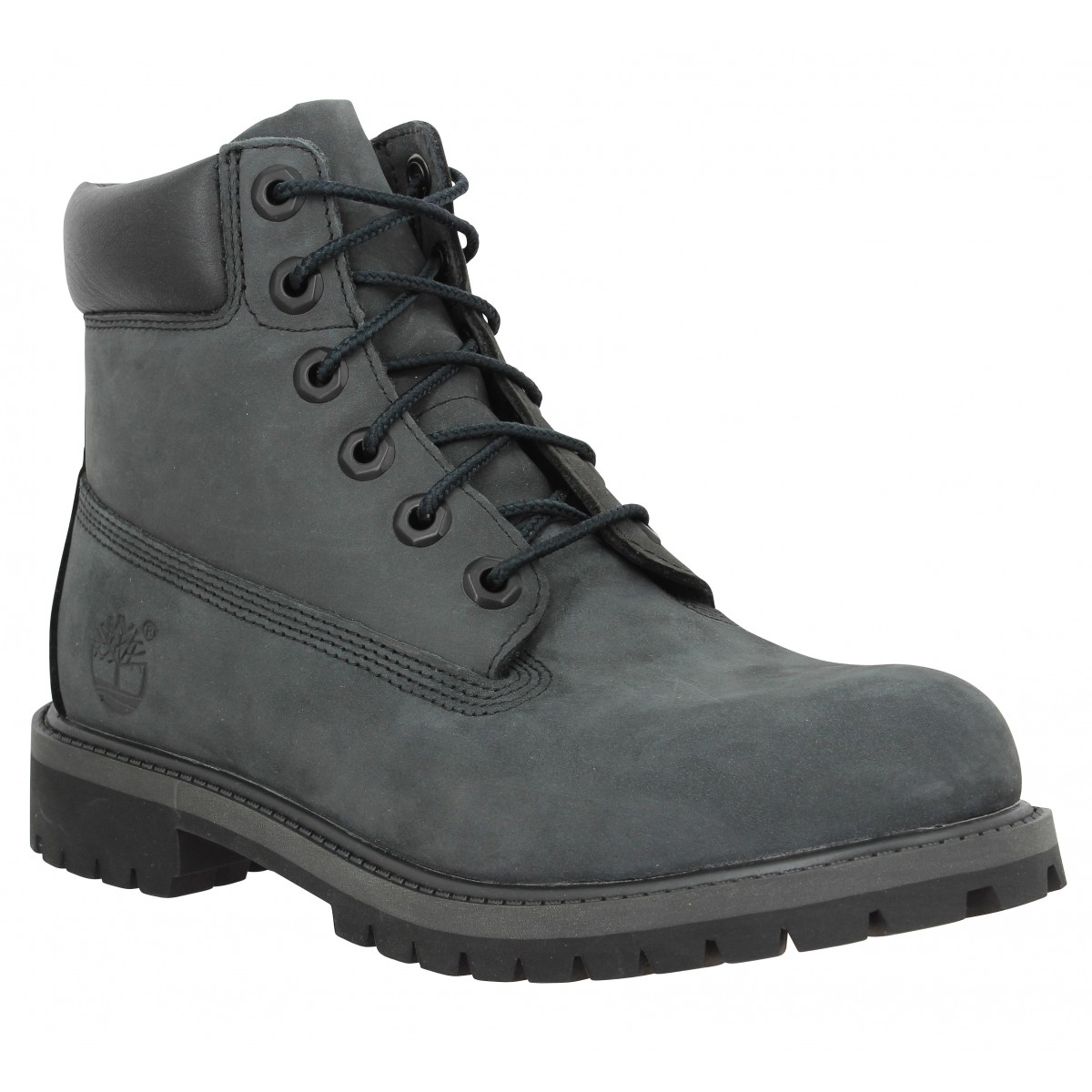 TIMBERLAND 6in Premium WP velours Femme Anthracite