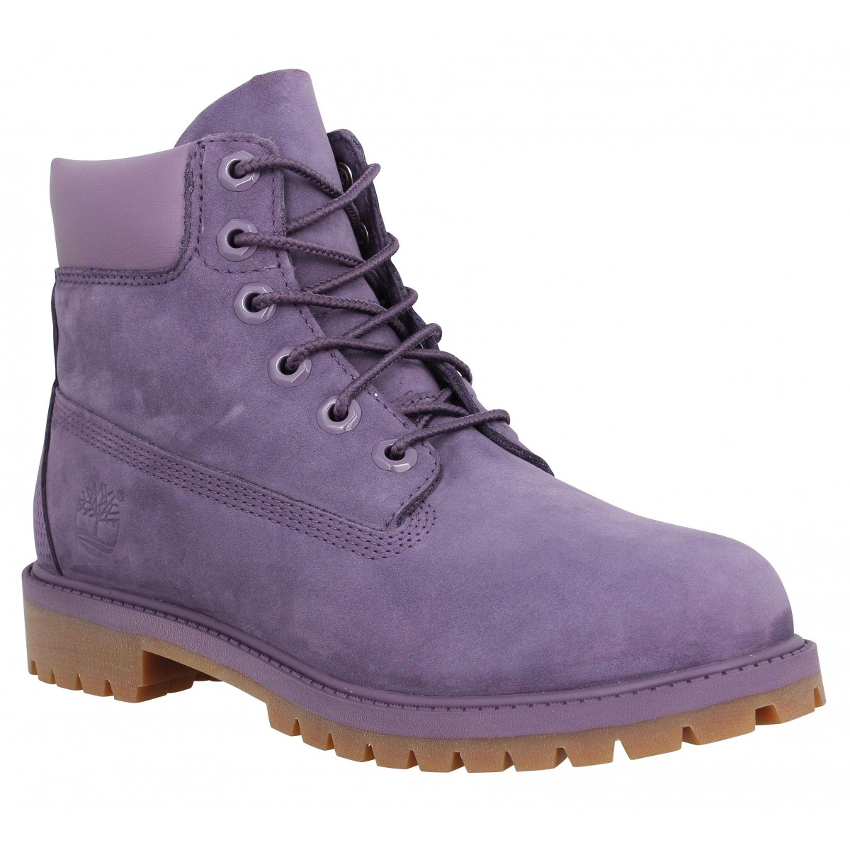 Bottines TIMBERLAND 6in Premium WP velours Femme Violet
