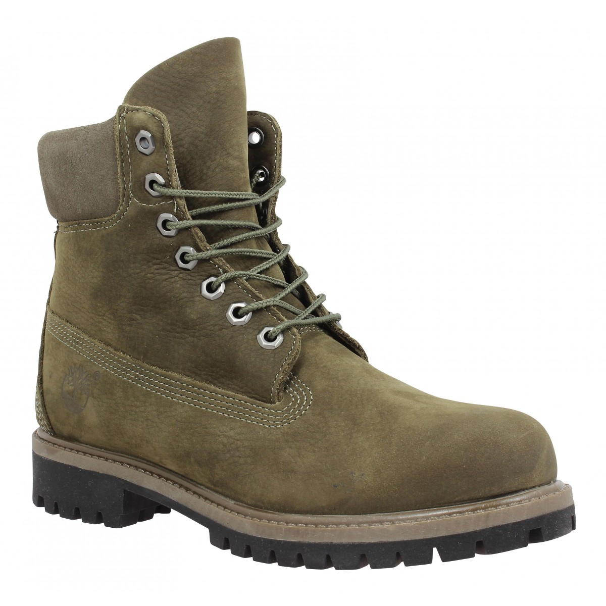 Bottines TIMBERLAND 6in Premium WP velours Homme Olive