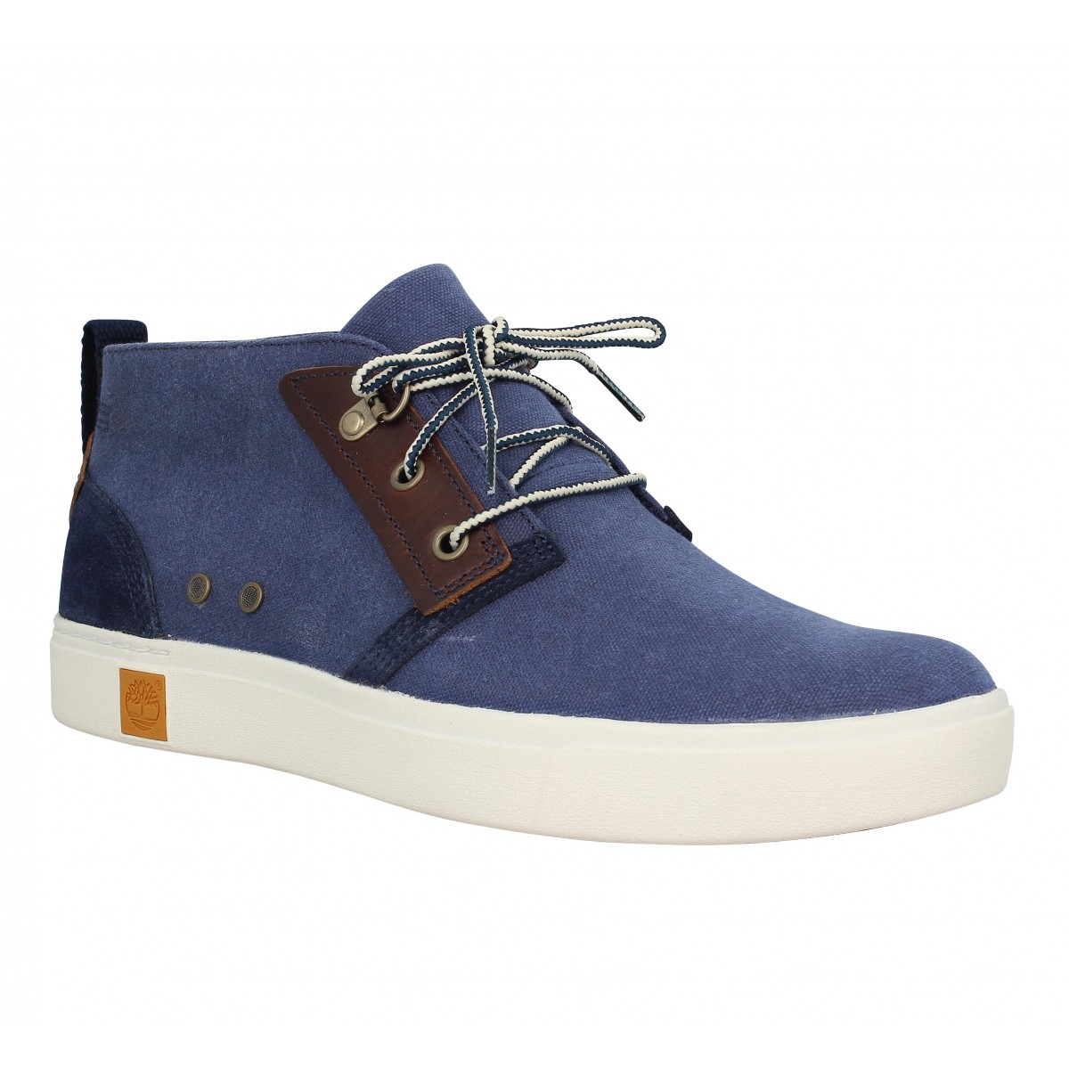 Baskets TIMBERLAND Amherst Chukka toile Homme Marine