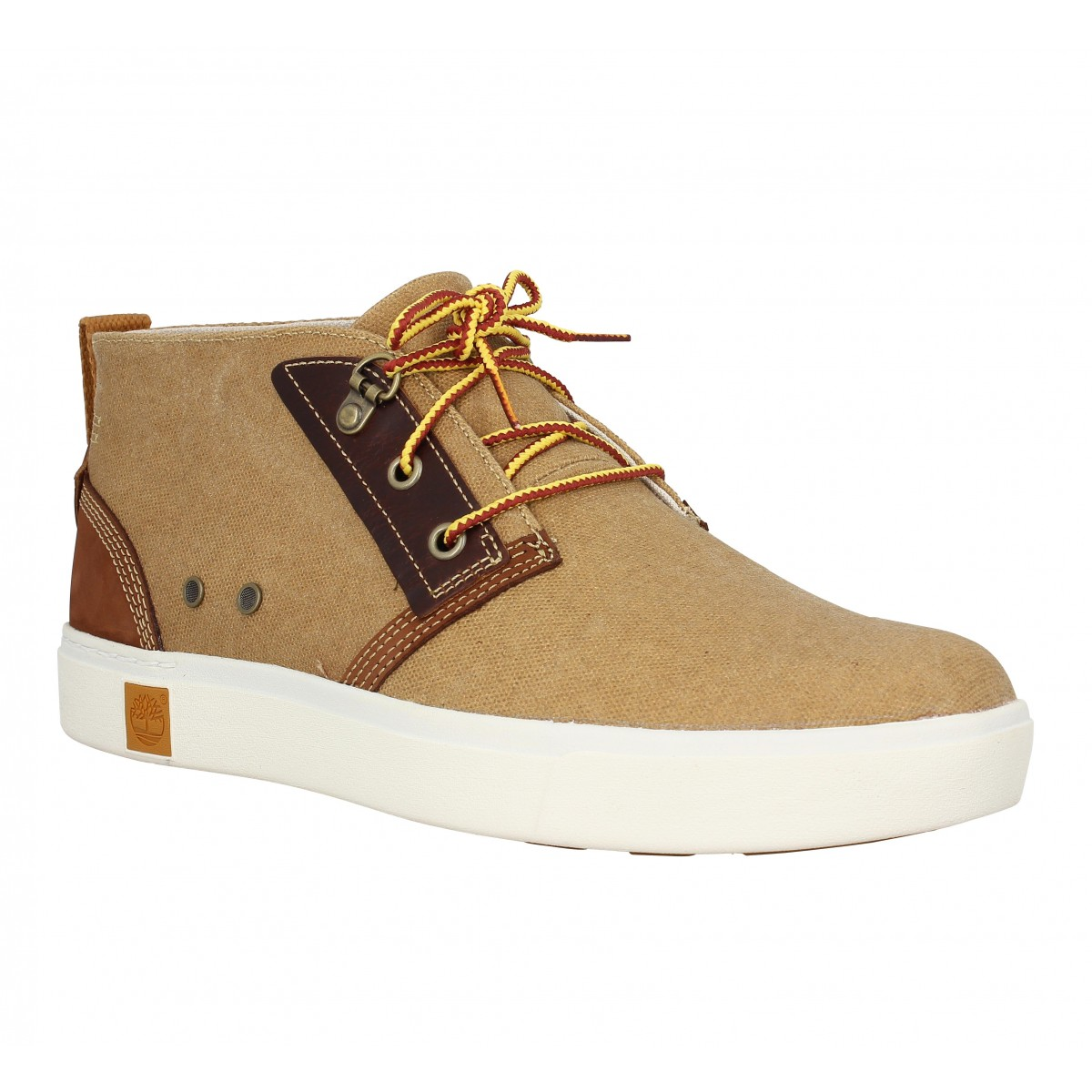 Baskets TIMBERLAND Amherst Chukka toile Homme Ocre