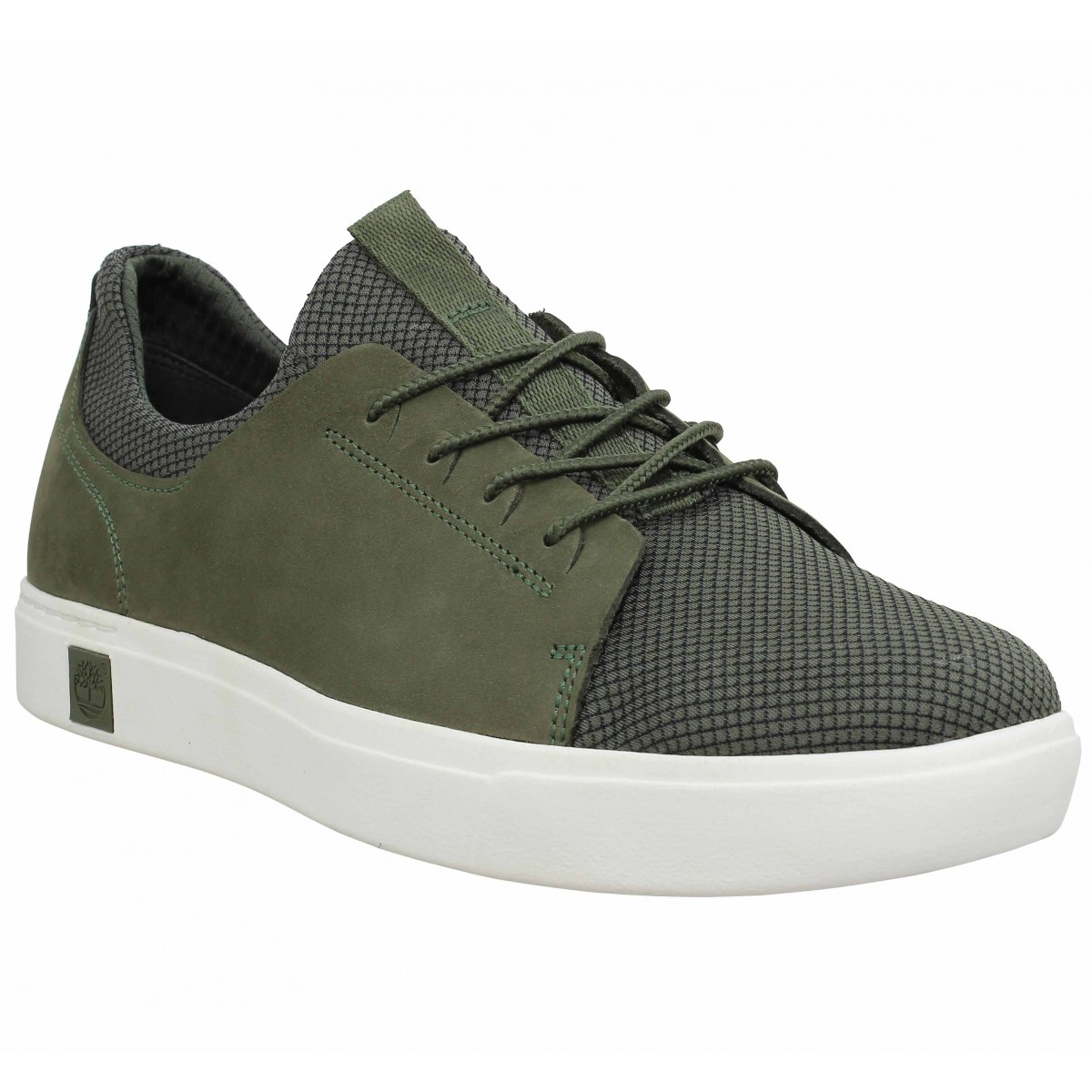 Baskets TIMBERLAND Amherst nubuck toile Homme Olive