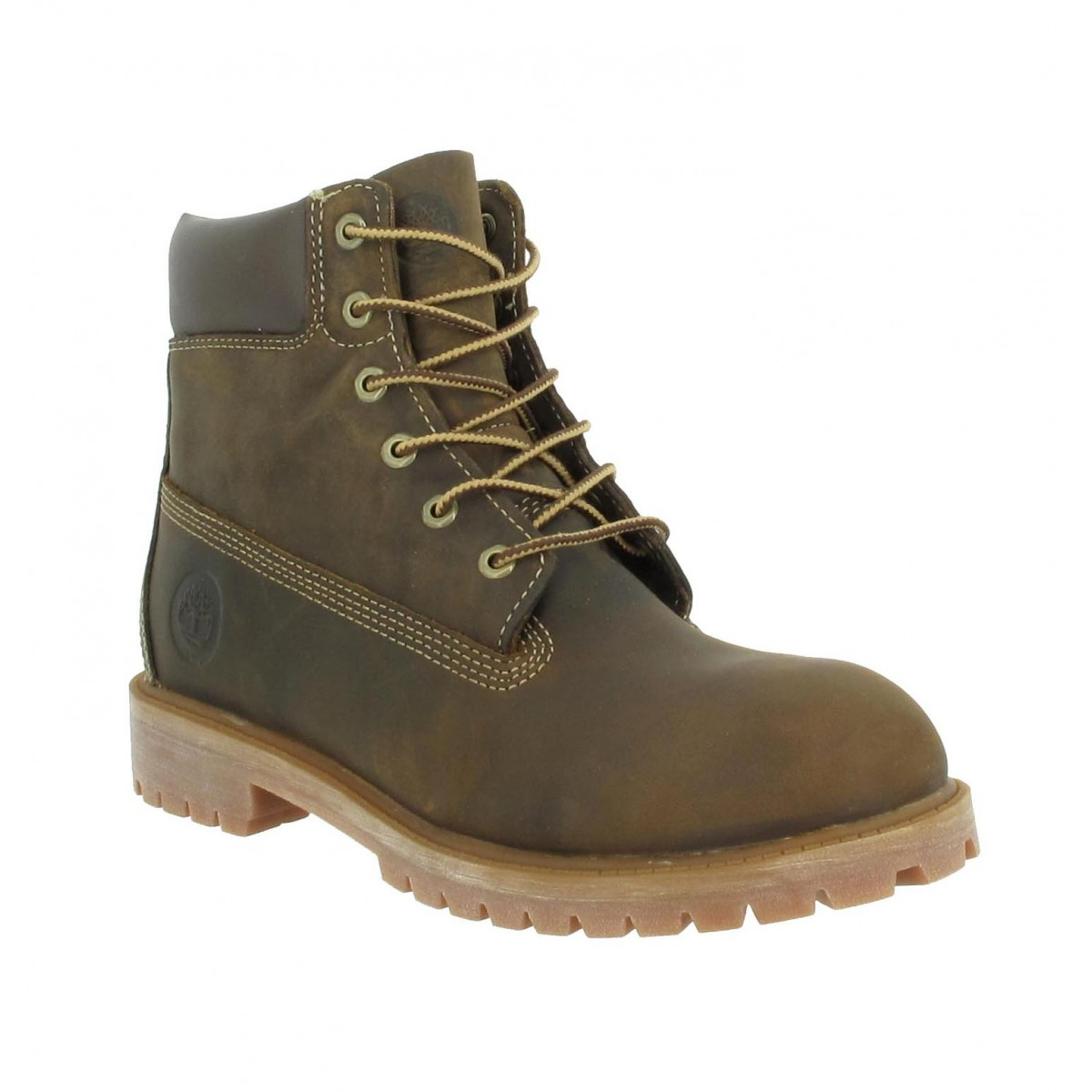 Bottines TIMBERLAND Authentic 6in 80903 box gras Femme Marron