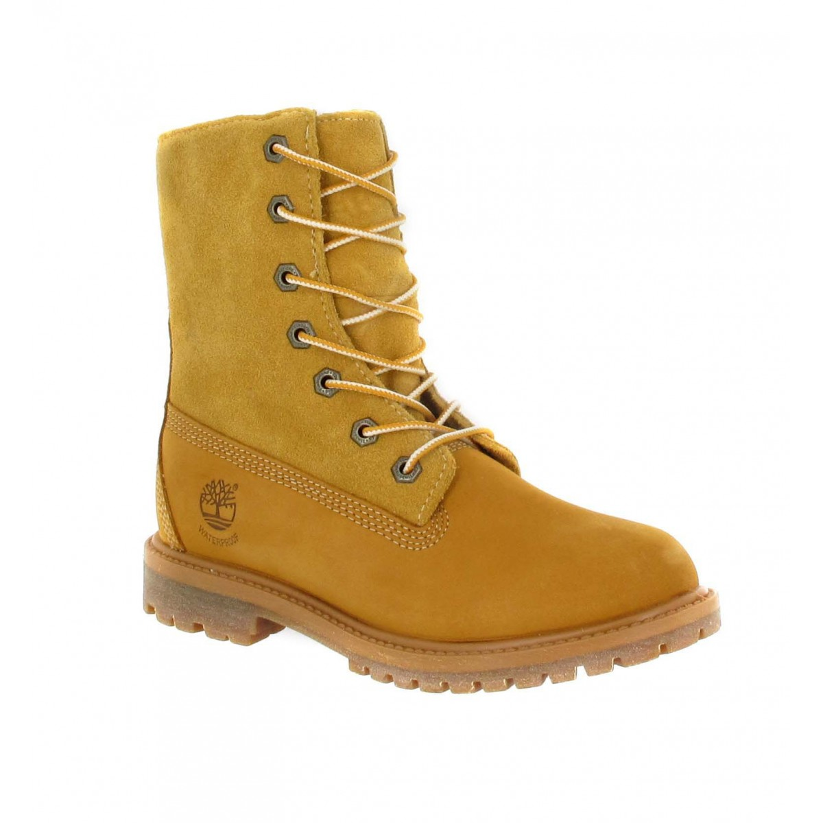 Bottines TIMBERLAND Authentics nubuck + velours Femme Ocre