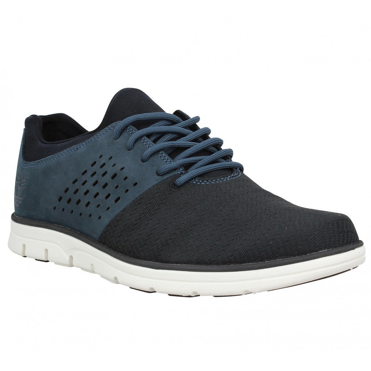 Baskets TIMBERLAND Bradstreet Oxford velours toile Homme Navy