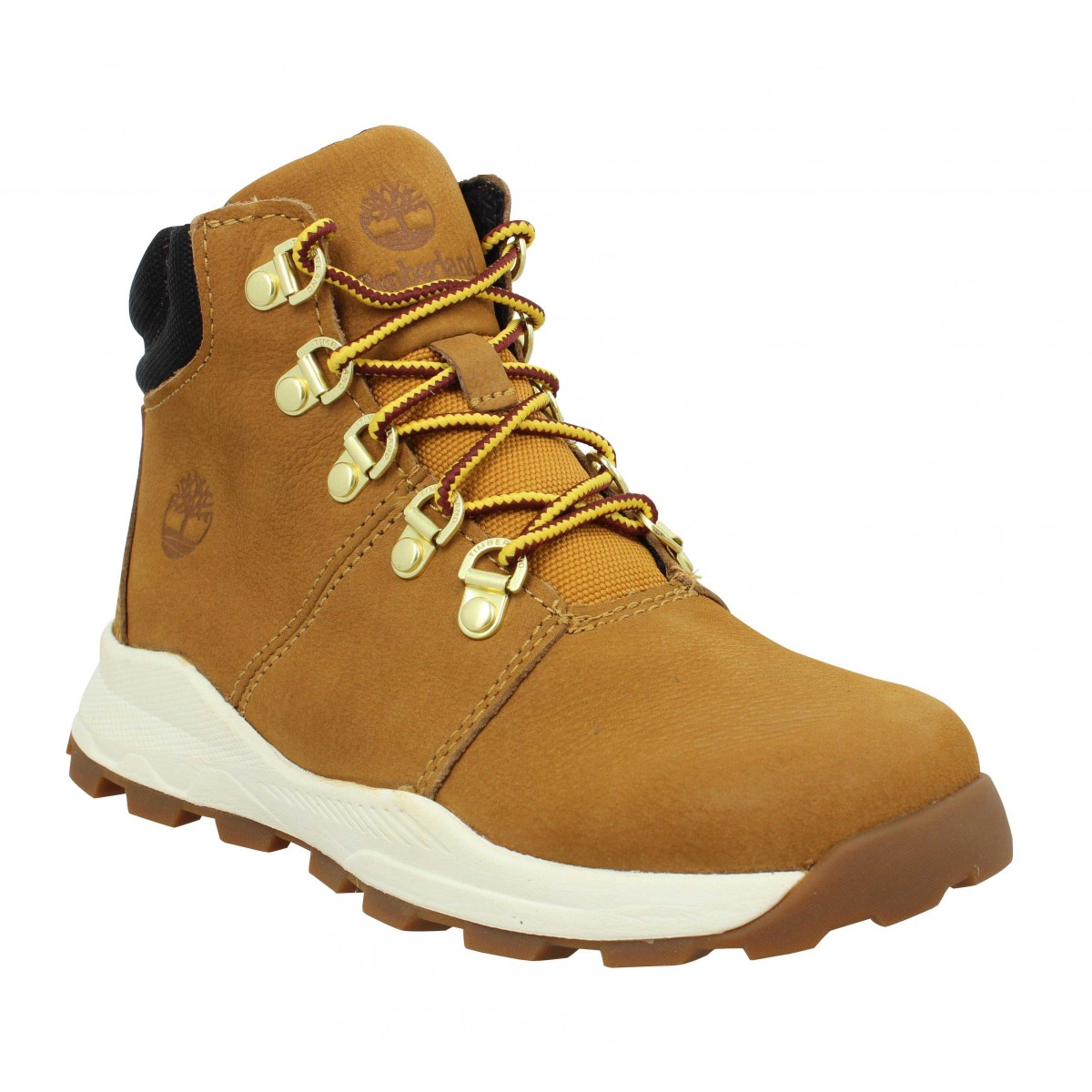 Bottines TIMBERLAND Brooklyn Mid Hiker nubuck Enfant Ocre
