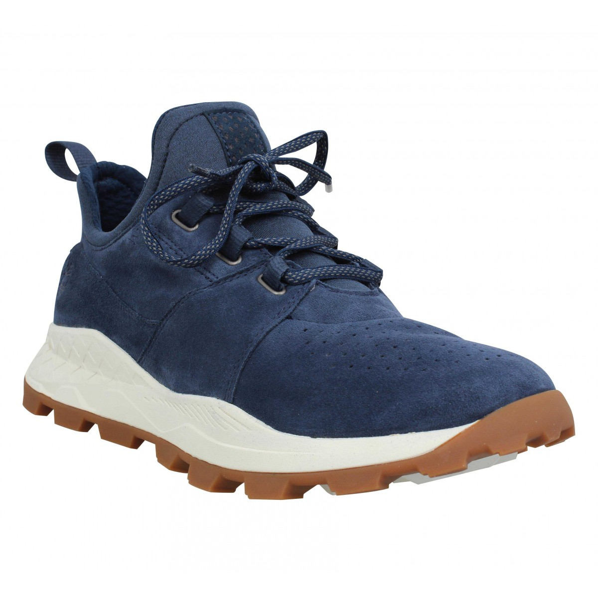 Baskets TIMBERLAND Brooklyn Oxford velours Homme Marine