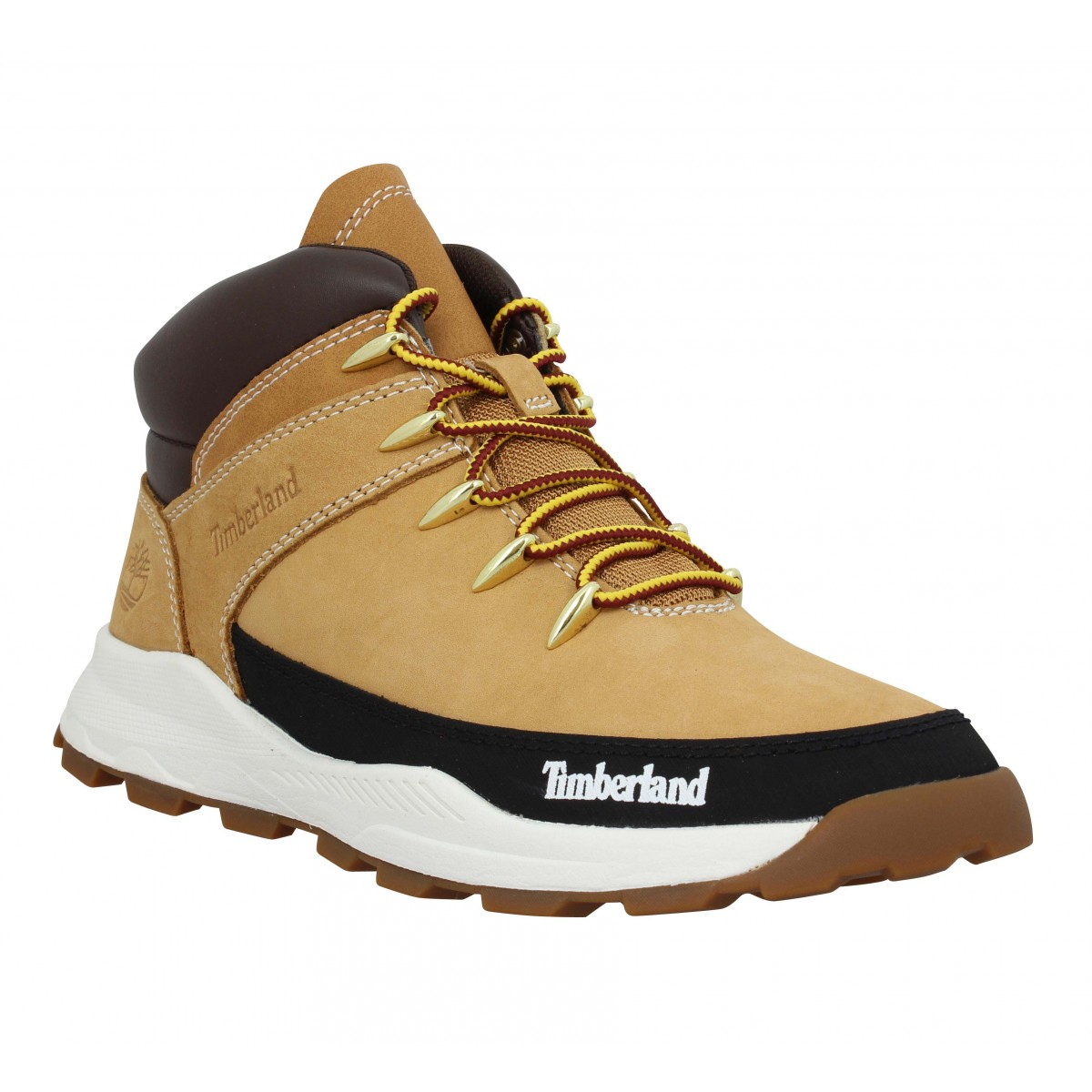 Baskets TIMBERLAND Brooklyn Sneaker Boot junior nubuck Enfant Ocre