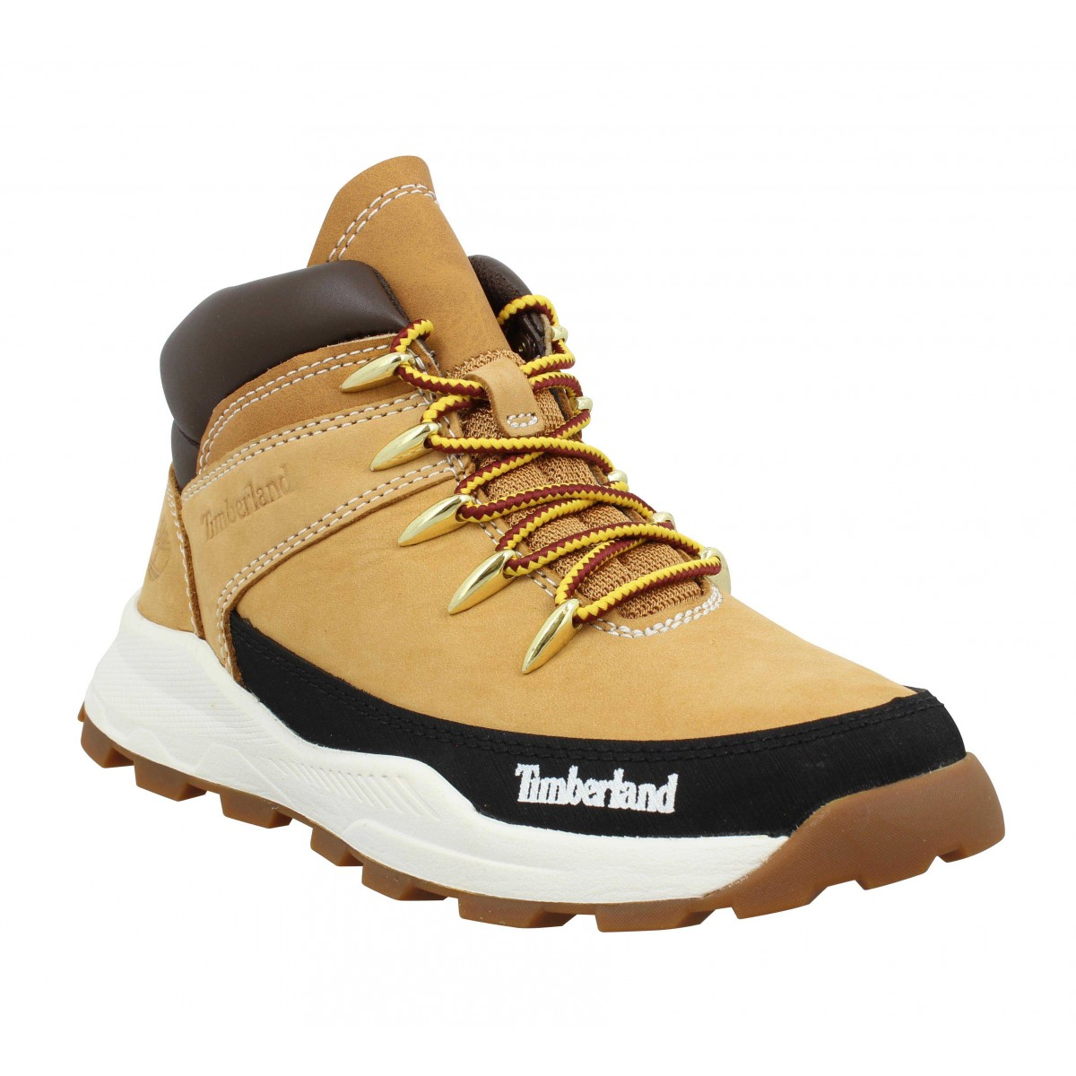 Bottines TIMBERLAND Brooklyn Sneaker Boot nubuck Enfant Ocre