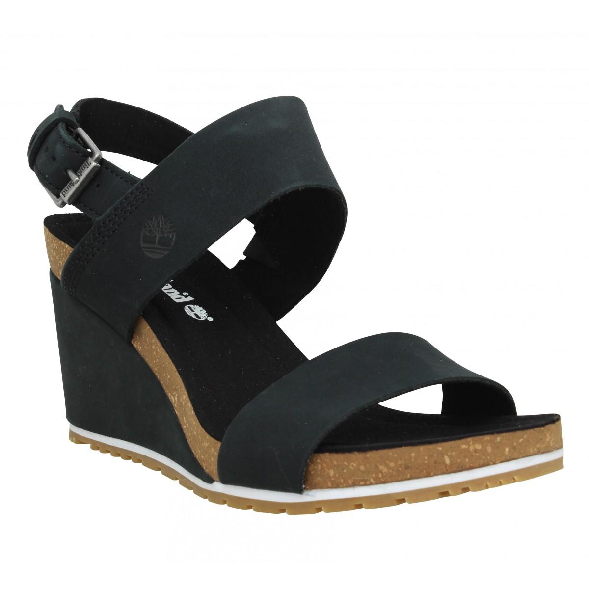 Sandales talons TIMBERLAND Capri Sunset nubuck Femme Noir