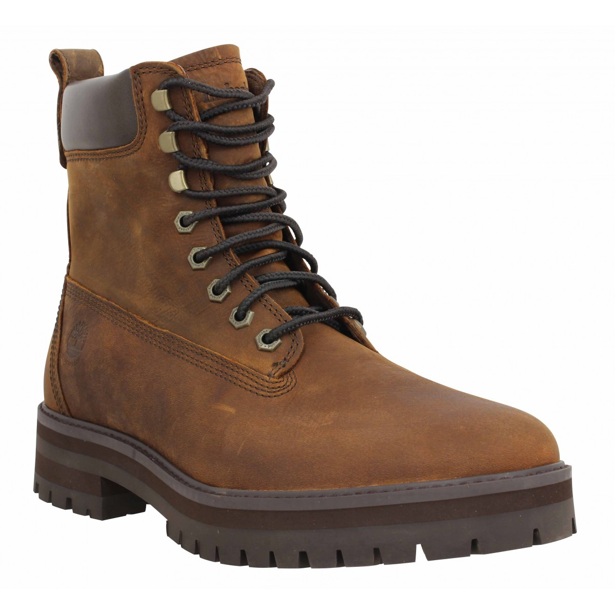 Bottines TIMBERLAND Courmayeur Guy WP cuir gras Homme Marron