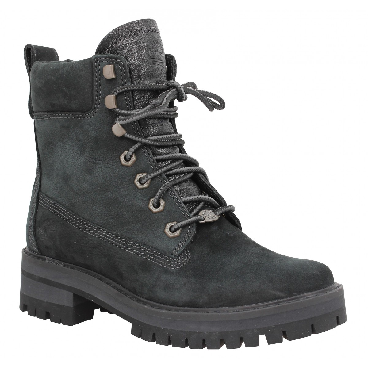Bottines TIMBERLAND Courmayeur Valley velours Femme Black