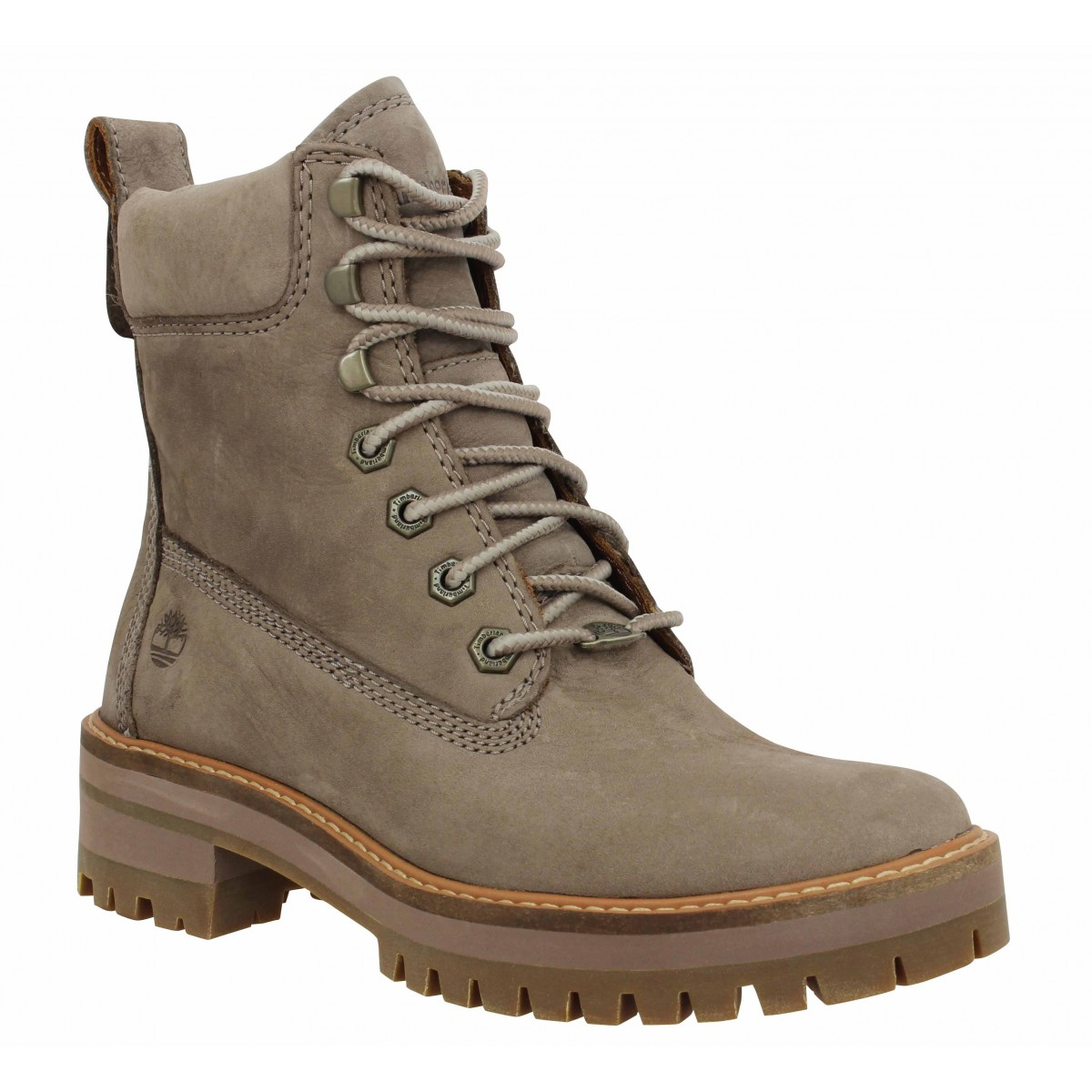 Bottines TIMBERLAND Courmayeur Valley velours Femme Taupe