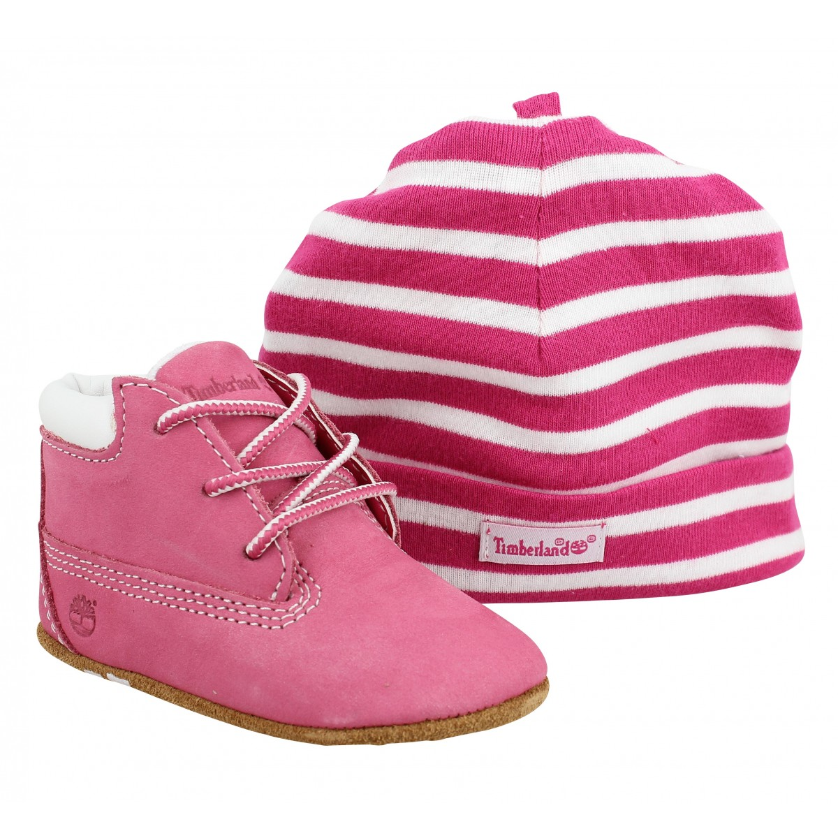 Bottines TIMBERLAND Crib Bootie velours Enfant Pink
