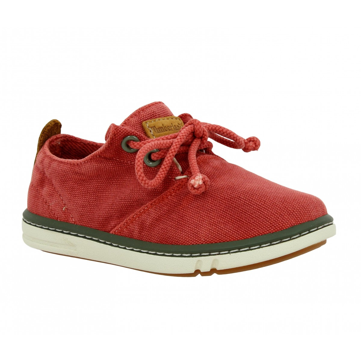 Baskets TIMBERLAND Earthkeepers Hookset Handcrafted Oxford toile Enfant Rouge