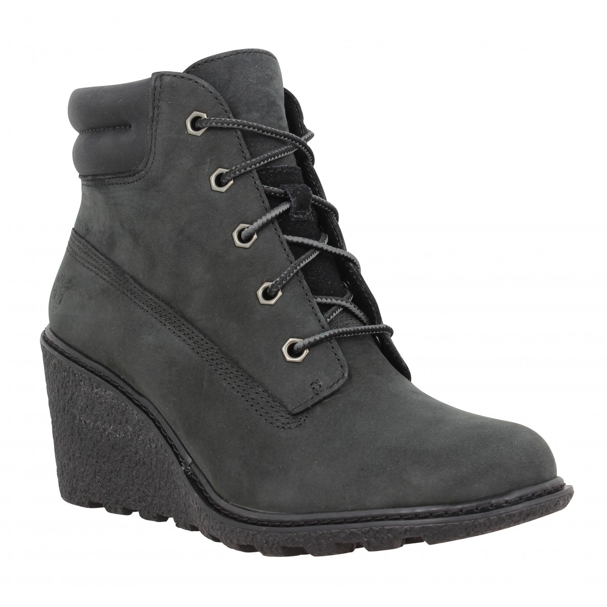 Bottines TIMBERLAND EK Amston 6in Wedge Boot velours Femme Noir