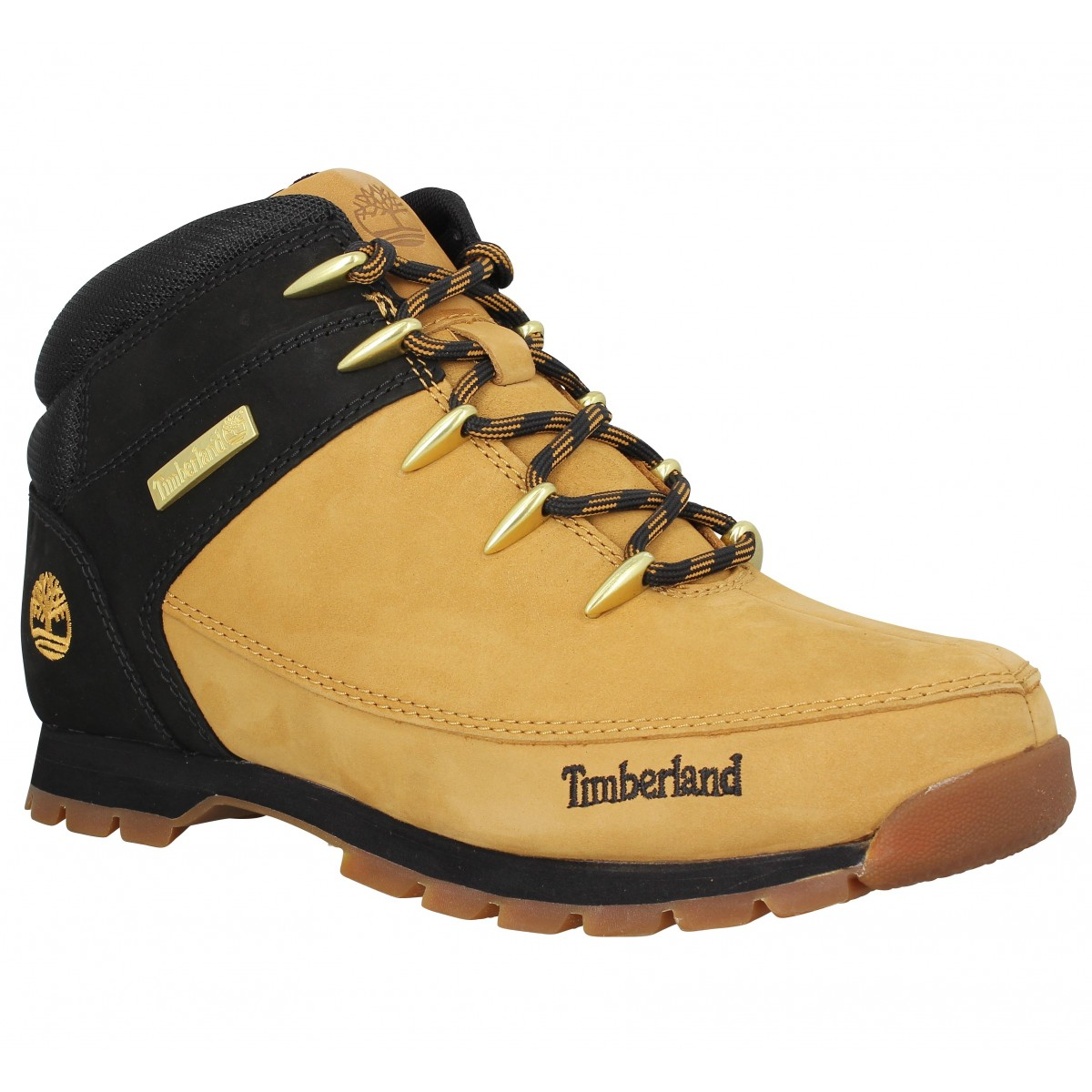 timberland euro sprint hiker nubuck homme ocre noir homme fanny chaussures. Black Bedroom Furniture Sets. Home Design Ideas