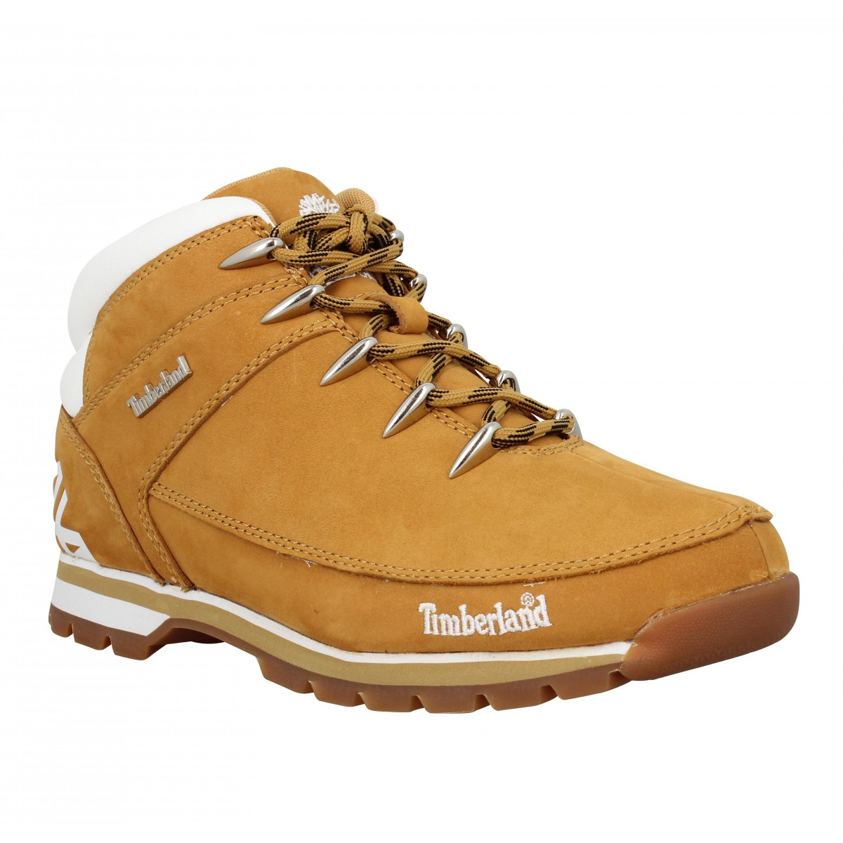 Baskets TIMBERLAND Euro Sprint velours Homme Ocre + Blanc