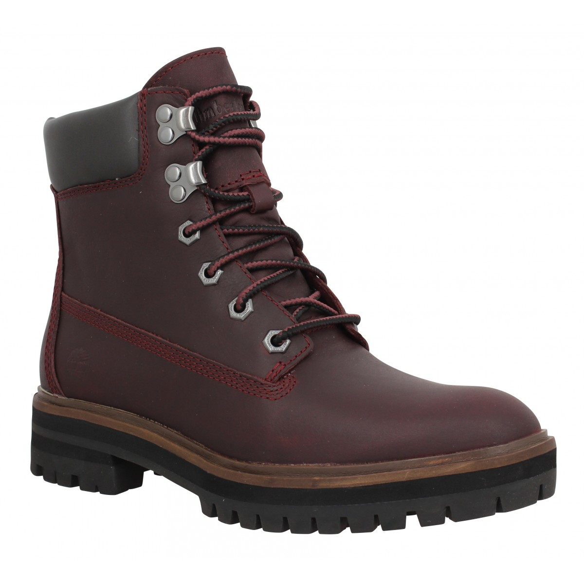 Bottines TIMBERLAND London Square 6in cuir Femme Bordeaux