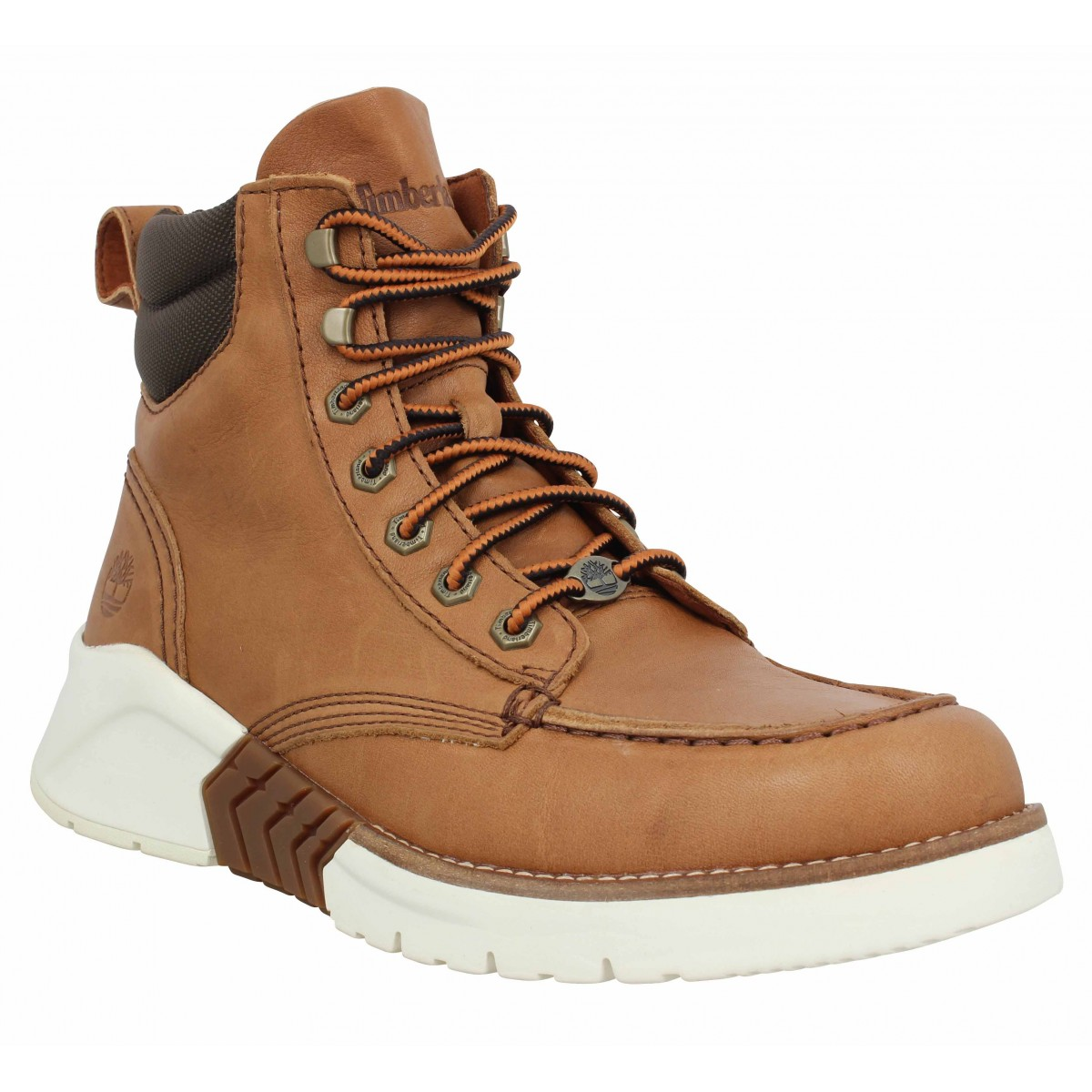 Bottines TIMBERLAND MTCR Moc Toe Boot cuir Homme Marron