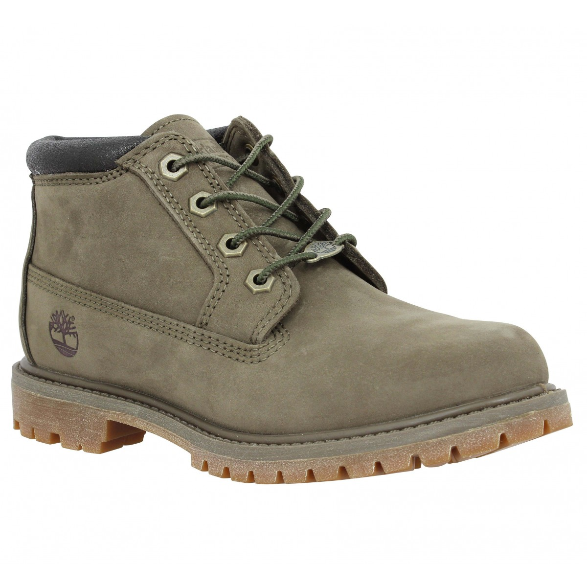 Bottines TIMBERLAND Nellie Chukka Double velours Femme Canteen