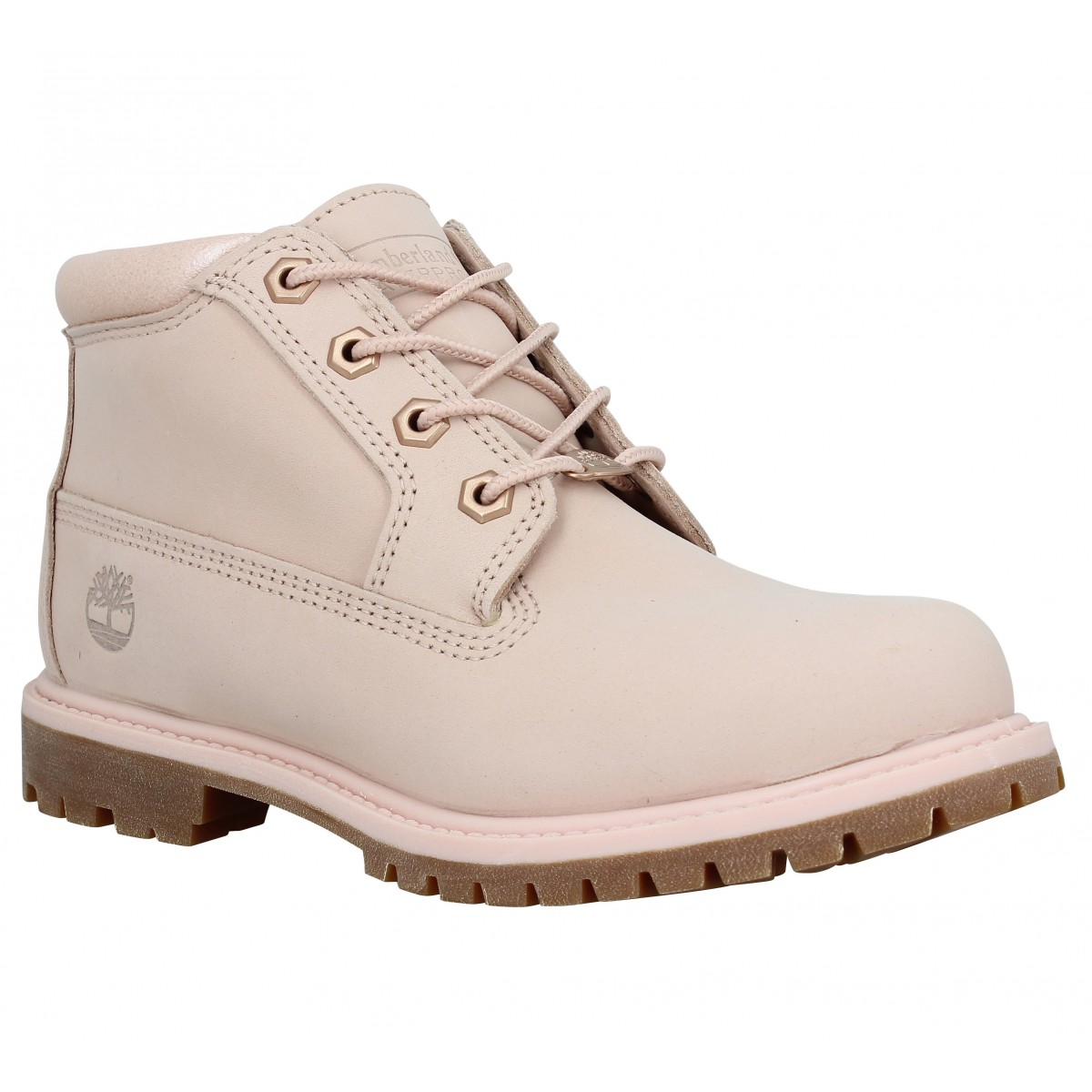 Bottines TIMBERLAND Nellie Chukka Double velours Femme Rose