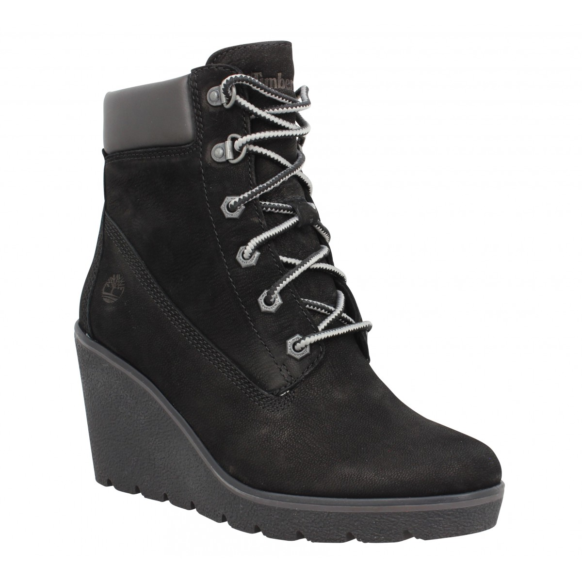 Bottines TIMBERLAND Paris Height 6in velours Femme Noir