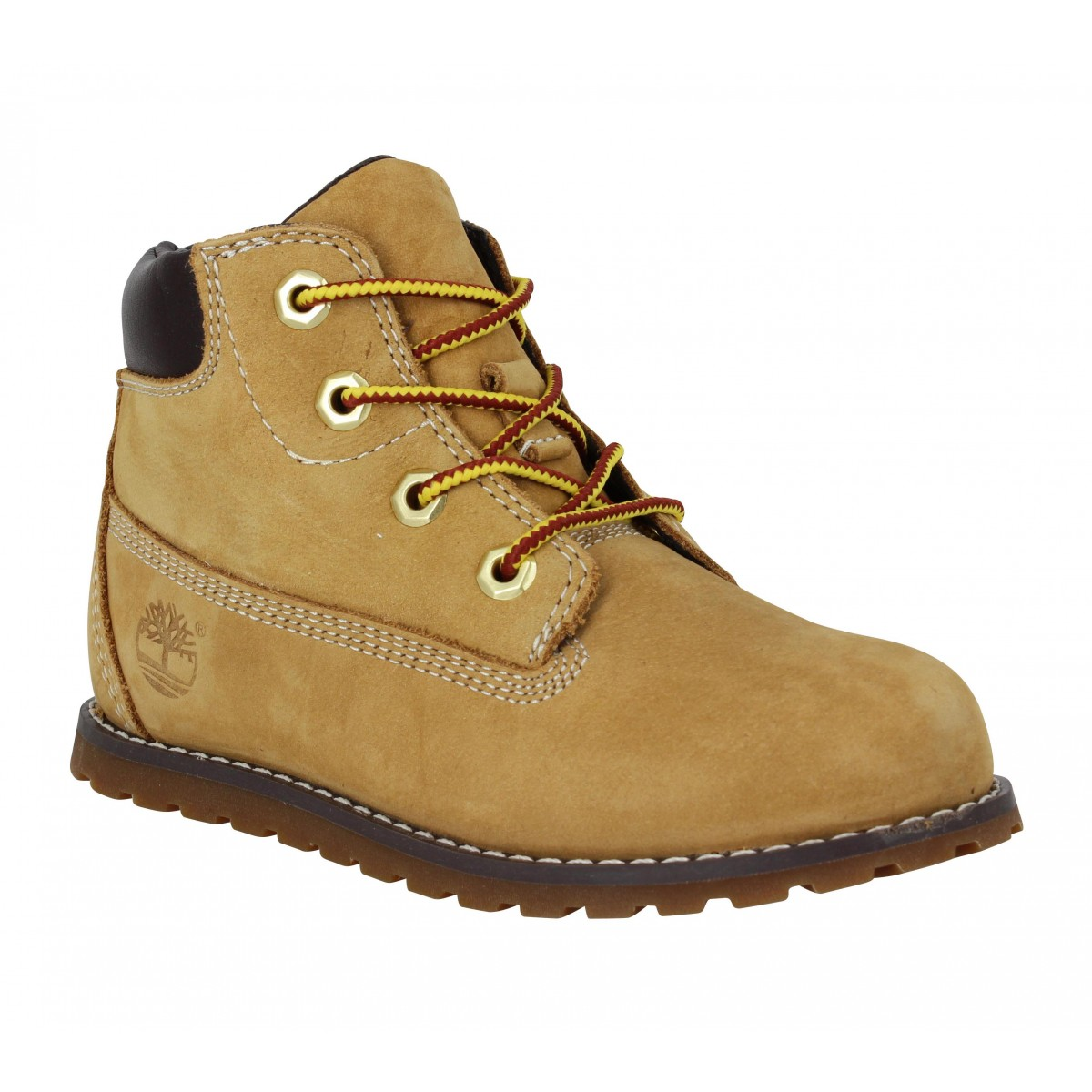 Bottines TIMBERLAND Pokey Pine 6in Boot velours Enfant Ocre