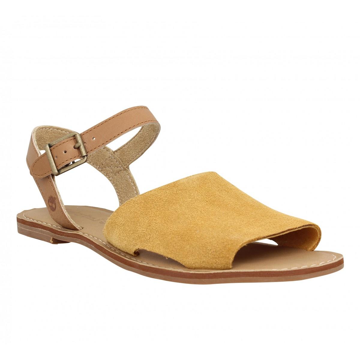 Nu-pieds TIMBERLAND Sheafe Y Strap Sandal Femme Tan