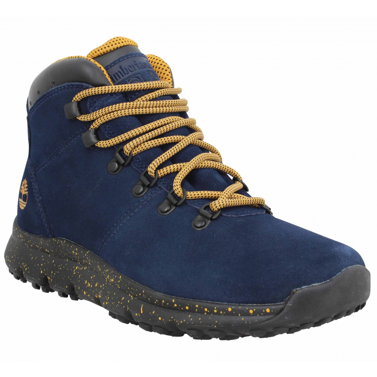 Bottines TIMBERLAND World Hiker Mid velours Homme Marine