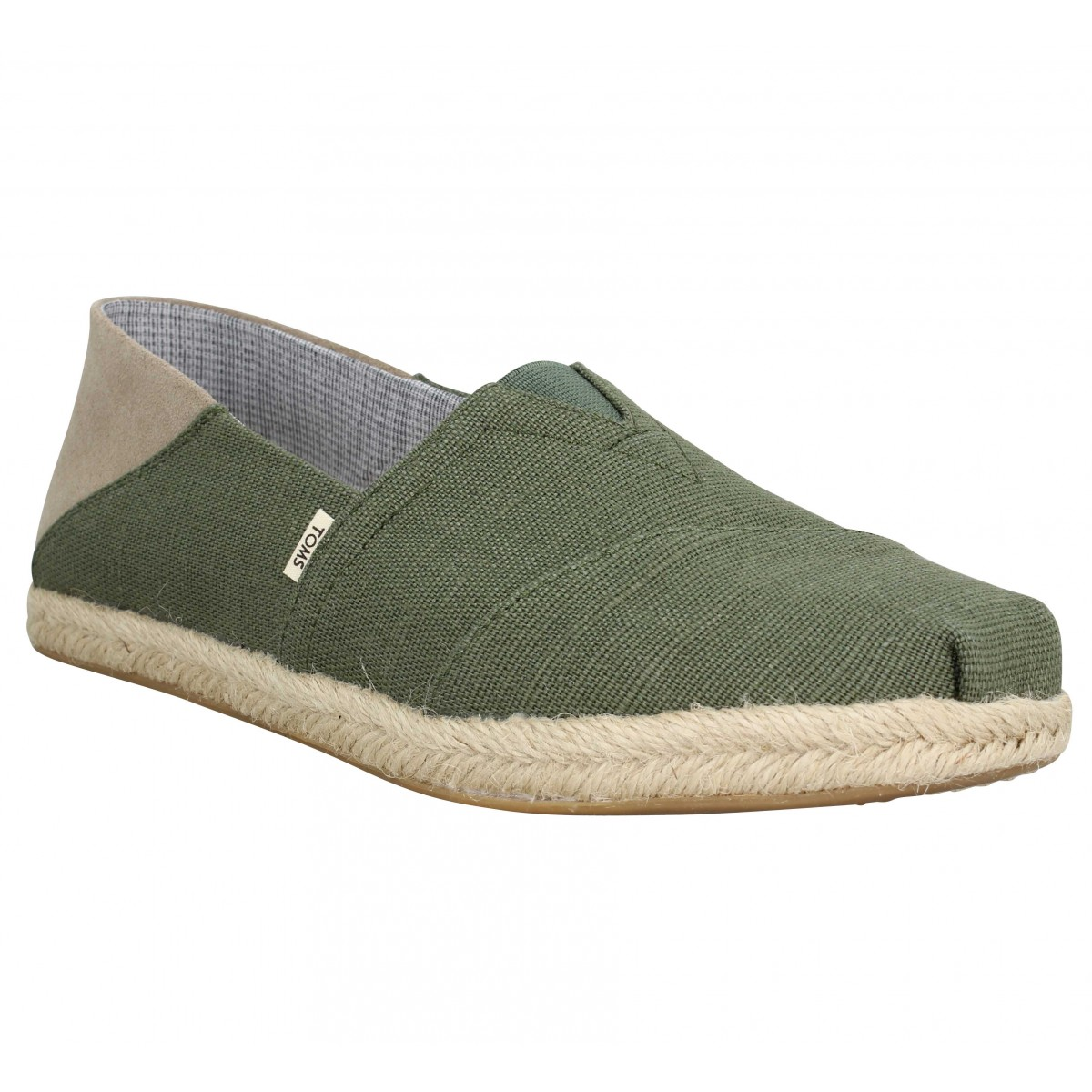 Espadrilles TOMS Classic toile Homme Green