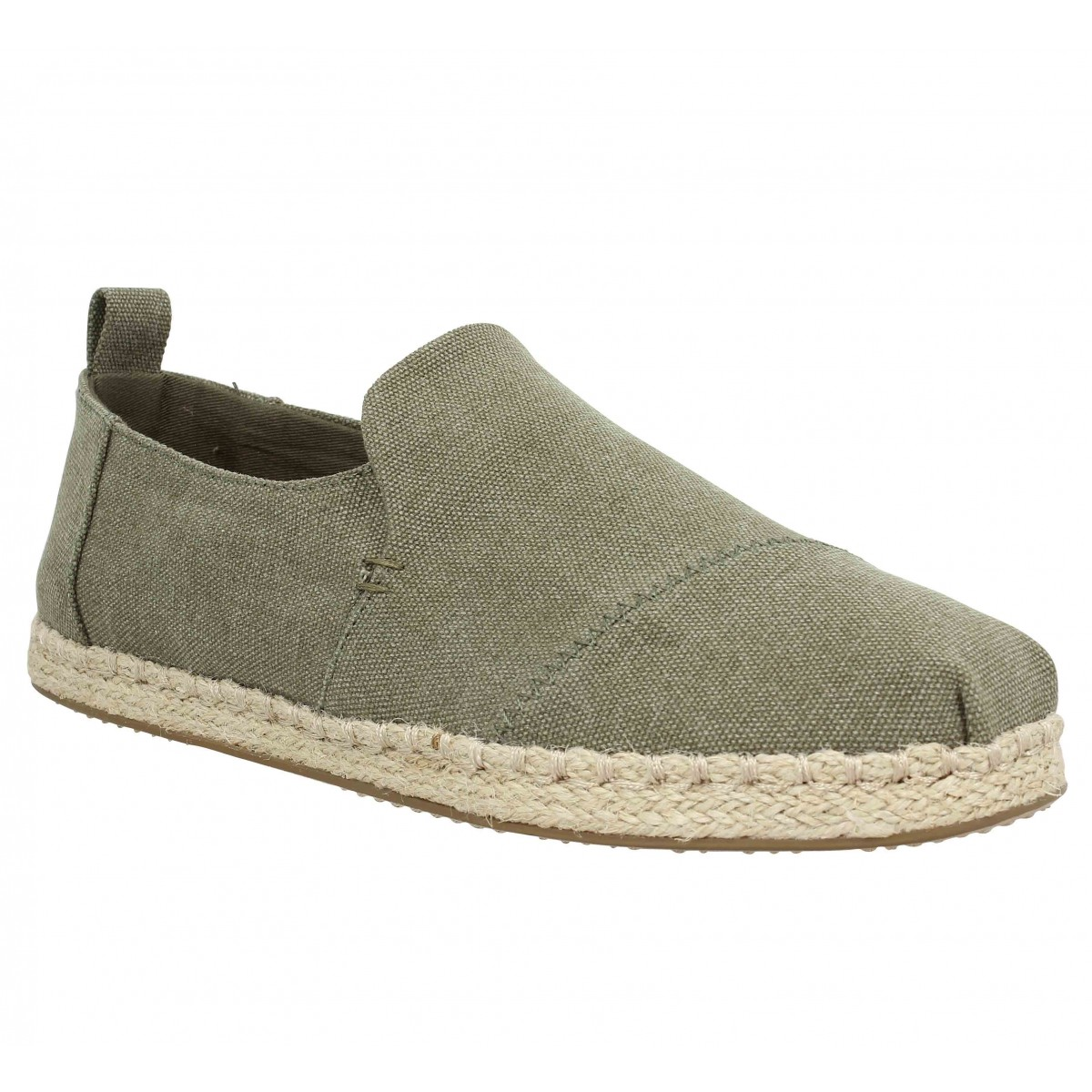 Espadrilles TOMS Deconstructed Alpargata Rope toile Homme Olive