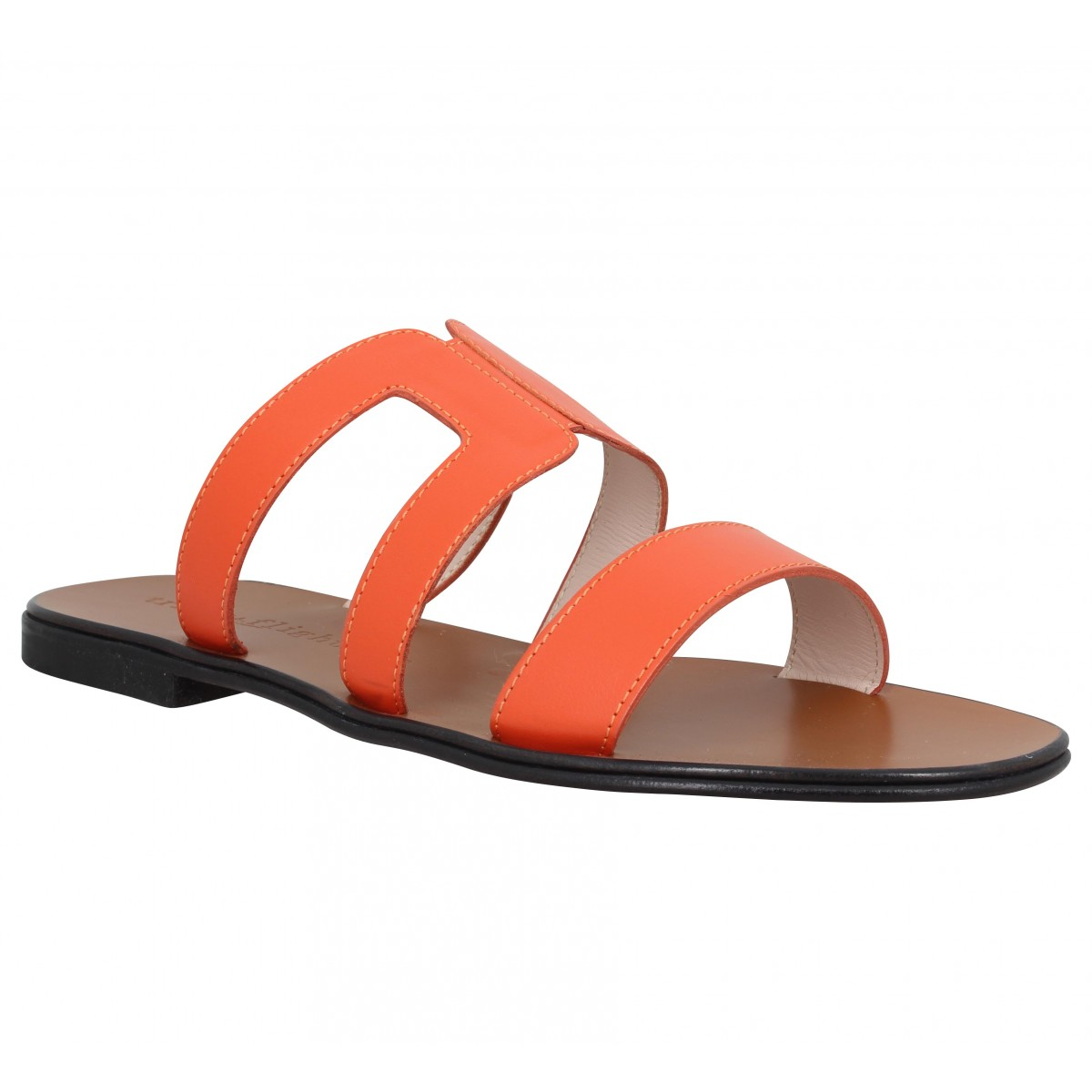 Mules TRIVER FLIGHT 13402 cuir Femme Orange