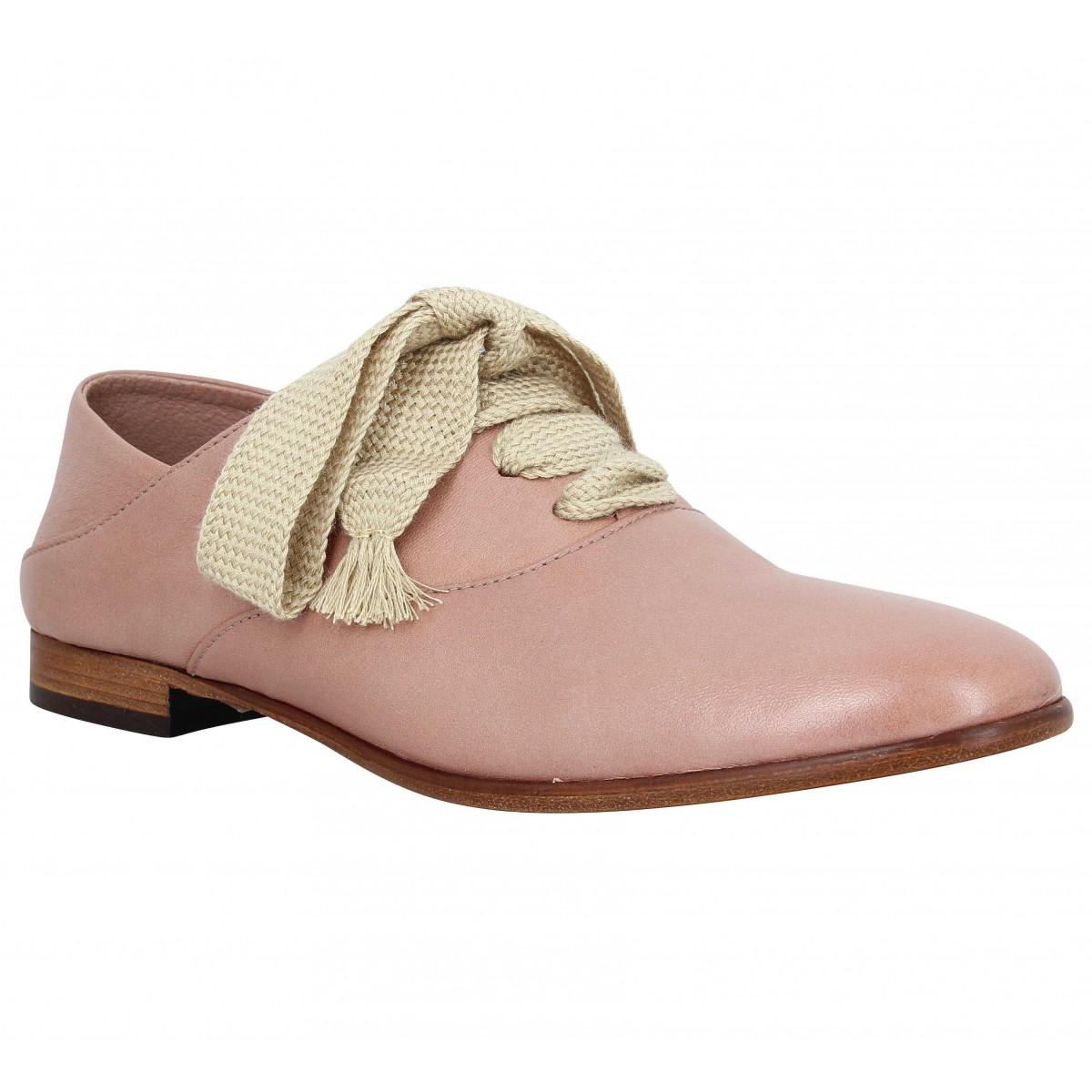 Chaussures à lacets TRIVER FLIGHT 2251 cuir Femme Rose
