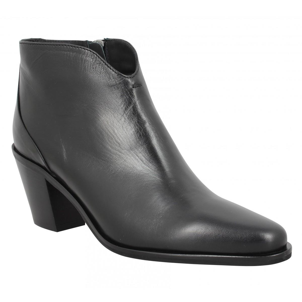 Bottines TRIVER FLIGHT 41720 cuir Femme Noir