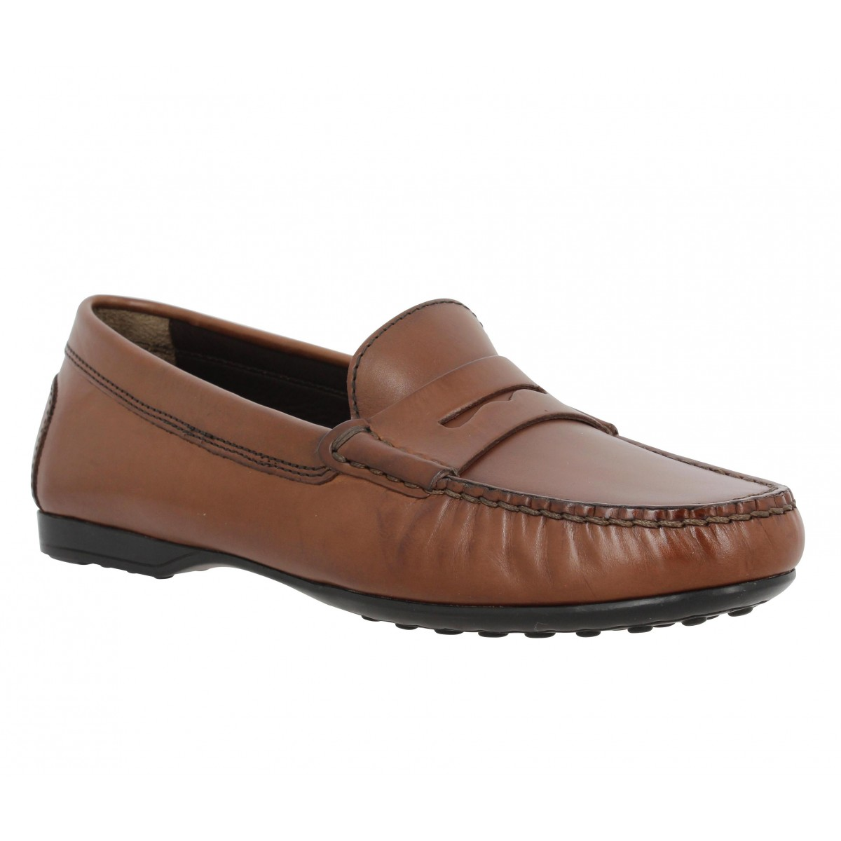 Mocassins TRIVER FLIGHT 646 01 cuir Femme Marron
