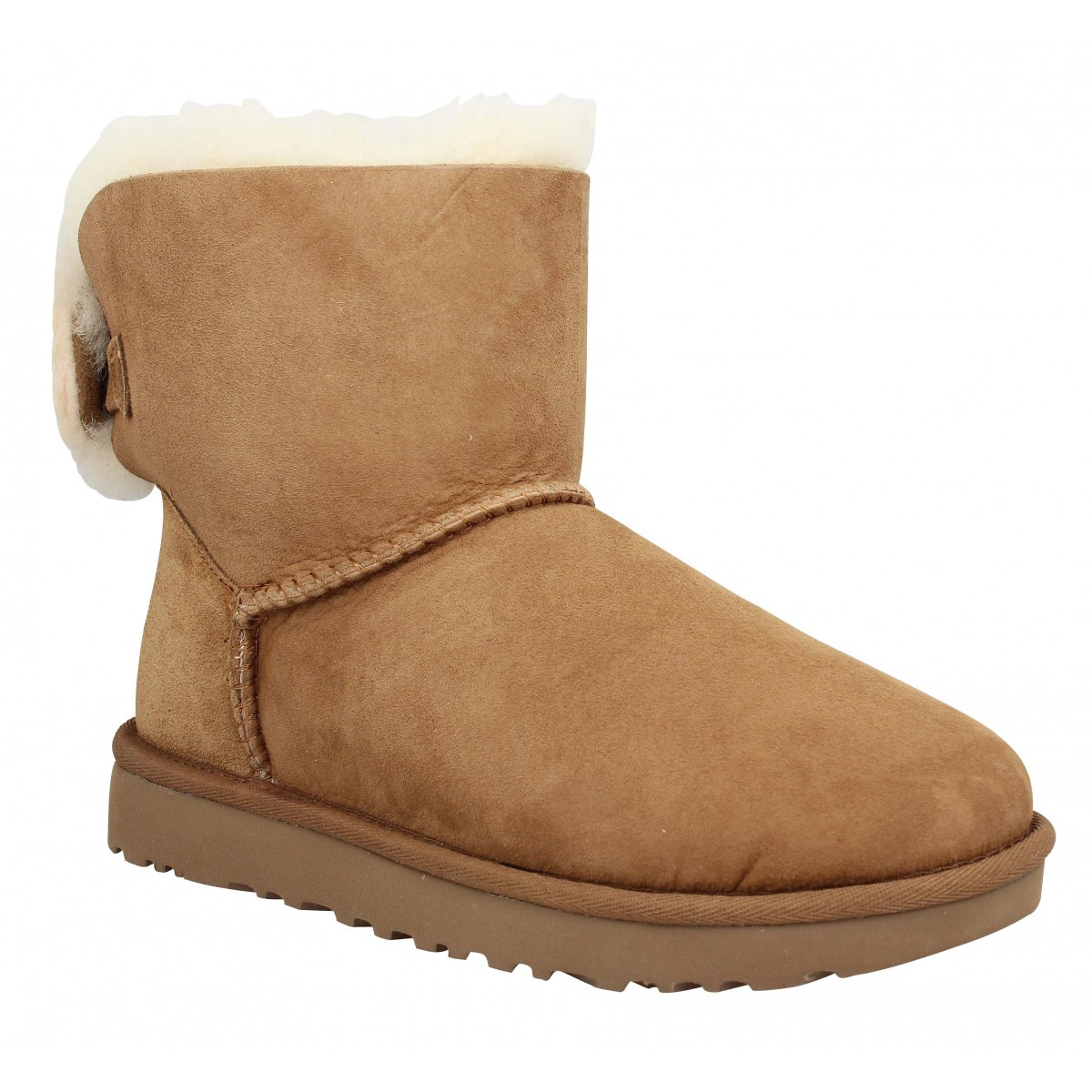 Bottines UGG Arielle velours Femme Chestnut