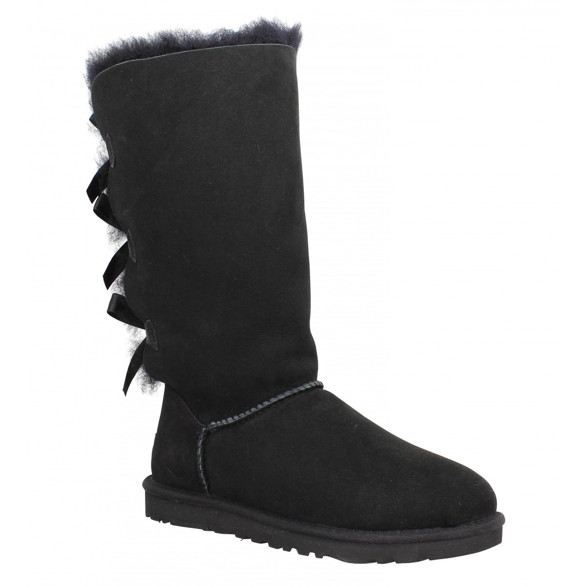 Bottes UGG AUSTRALIA Bailey Bow Tall velours Femme Black