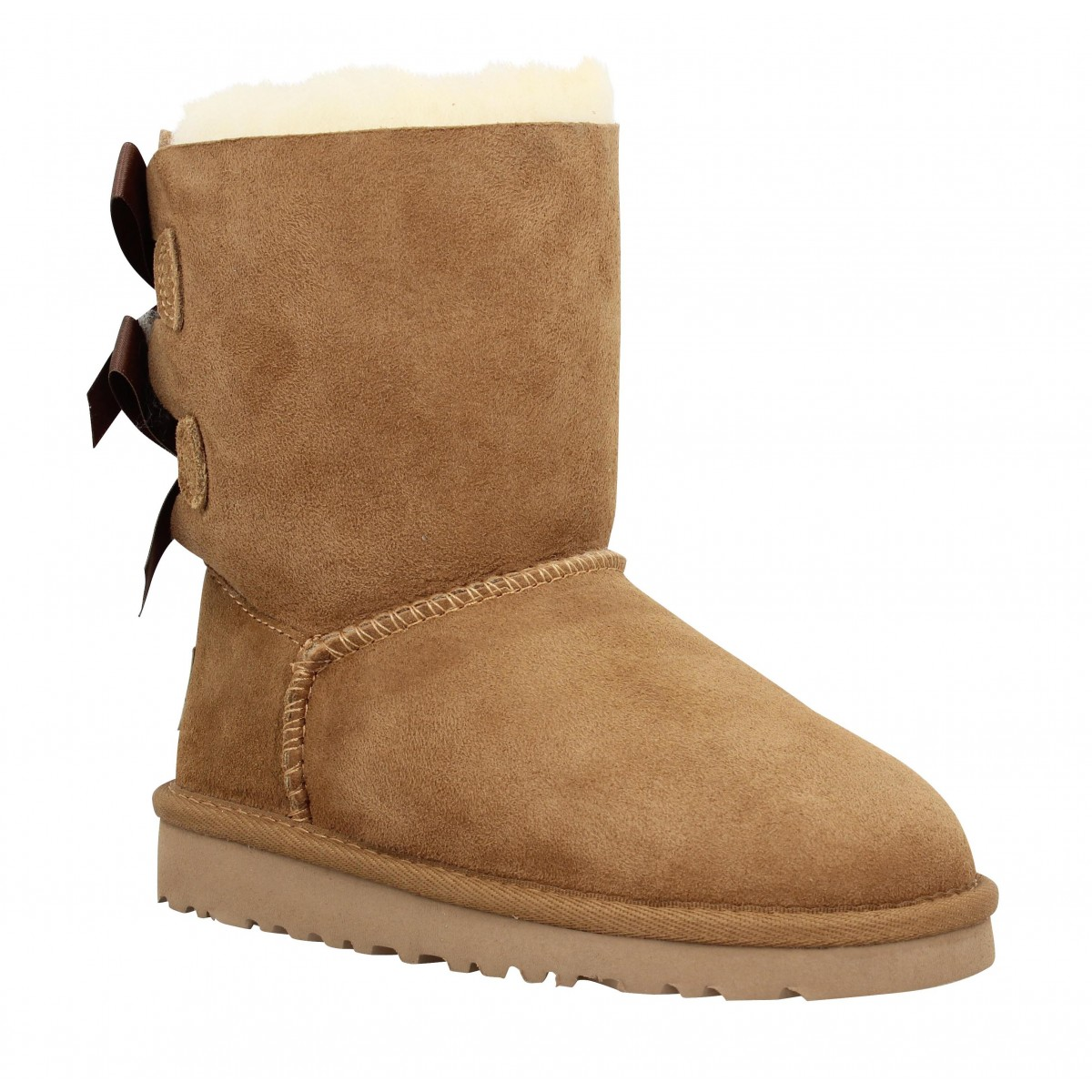 Bottines UGG AUSTRALIA Bailey Bow velours Enfant Chestnut