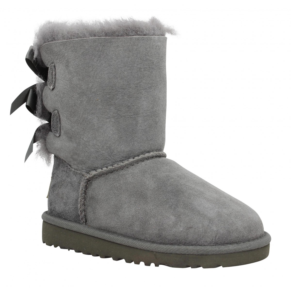 Bottines UGG AUSTRALIA Bailey Bow velours Enfant Gris