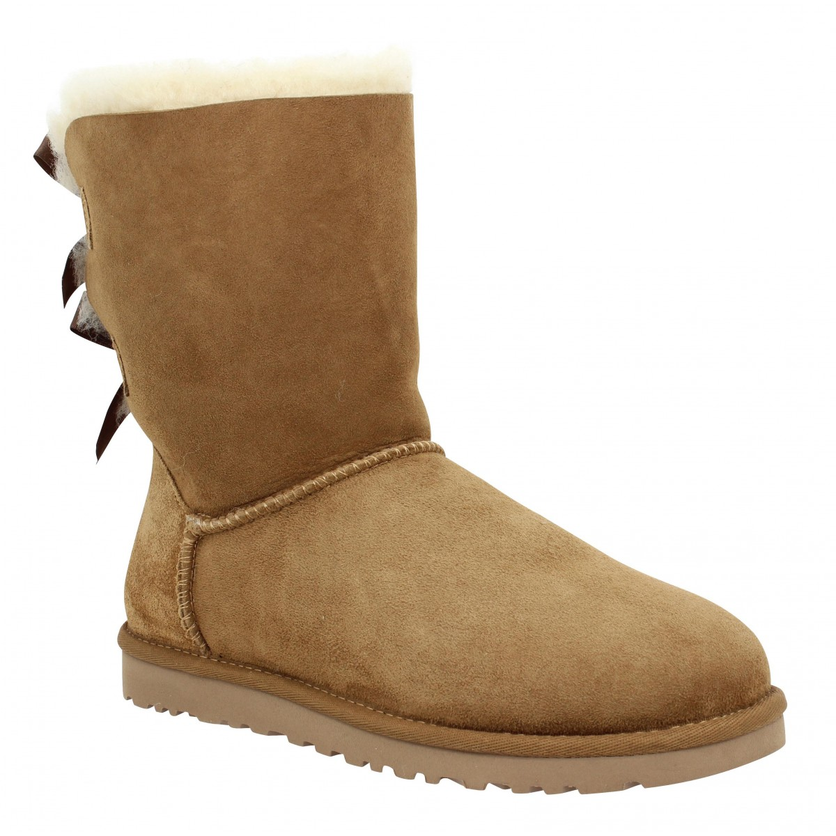 Bottes UGG AUSTRALIA Bailey Bow velours Femme Chestnut