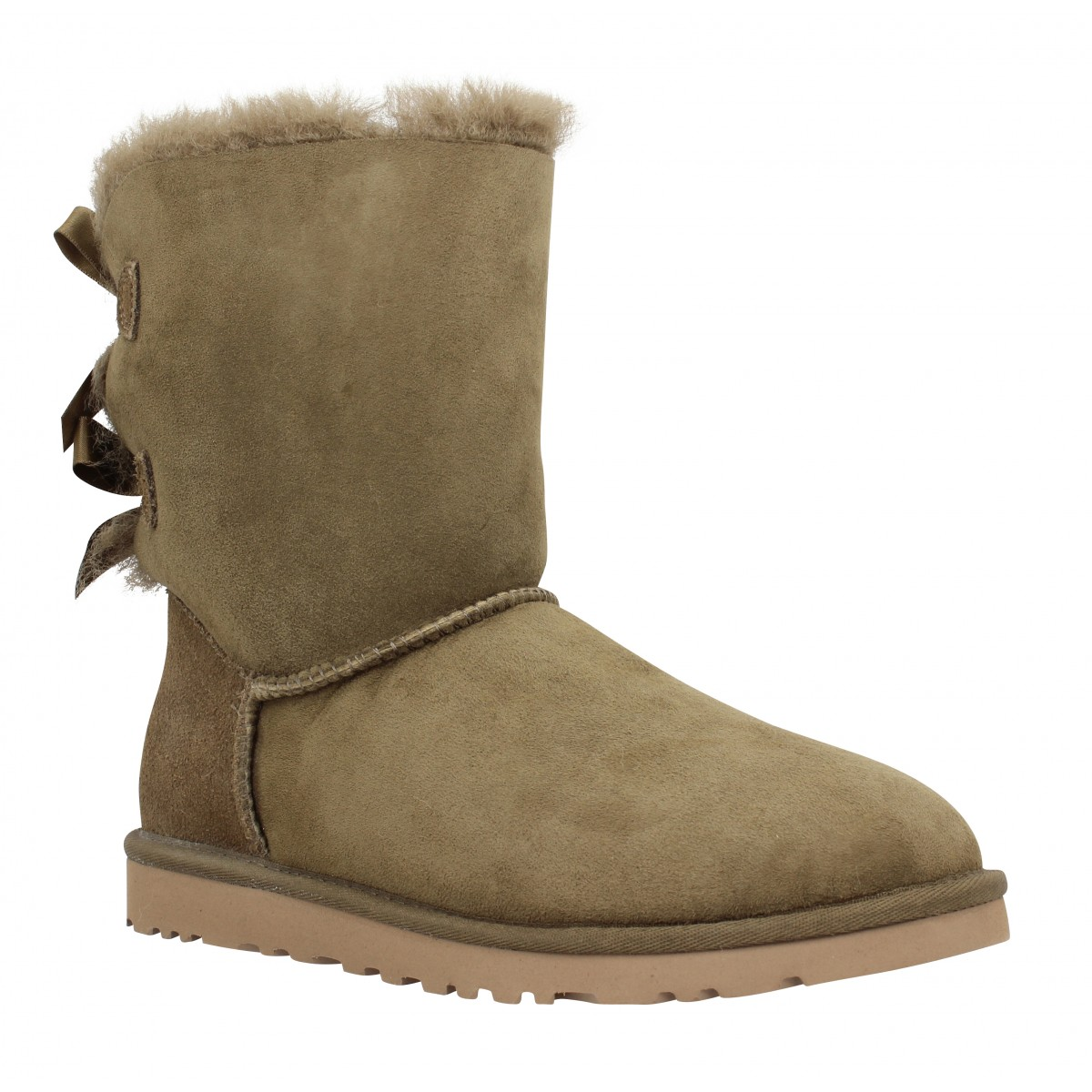 Bottines UGG AUSTRALIA Bailey Bow velours Femme Taupe