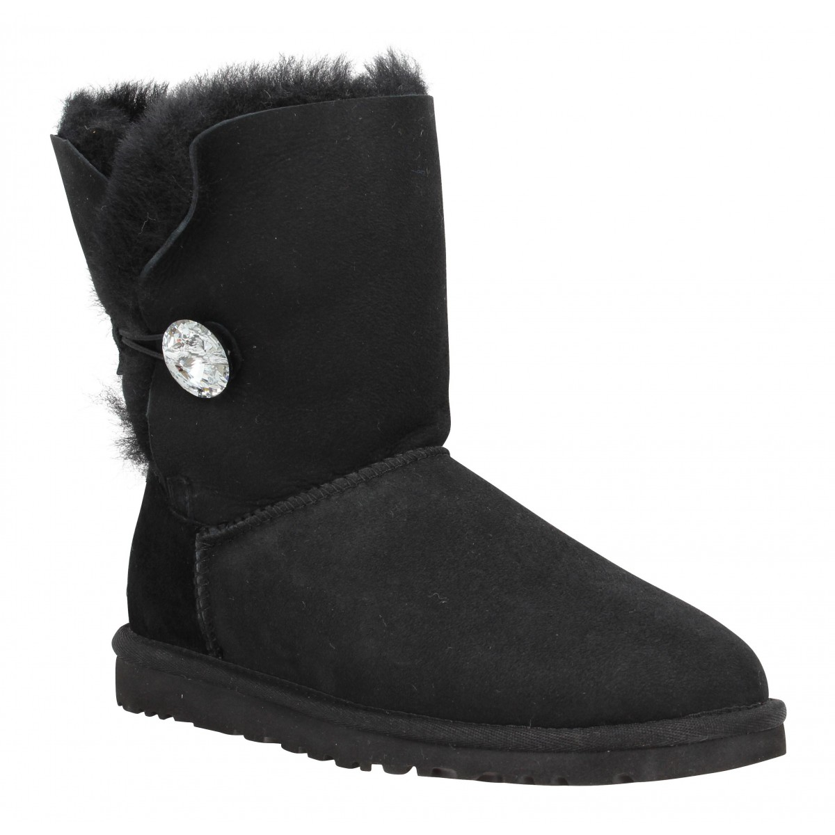 Bottines UGG AUSTRALIA Bailey Button Bling velours Femme Noir